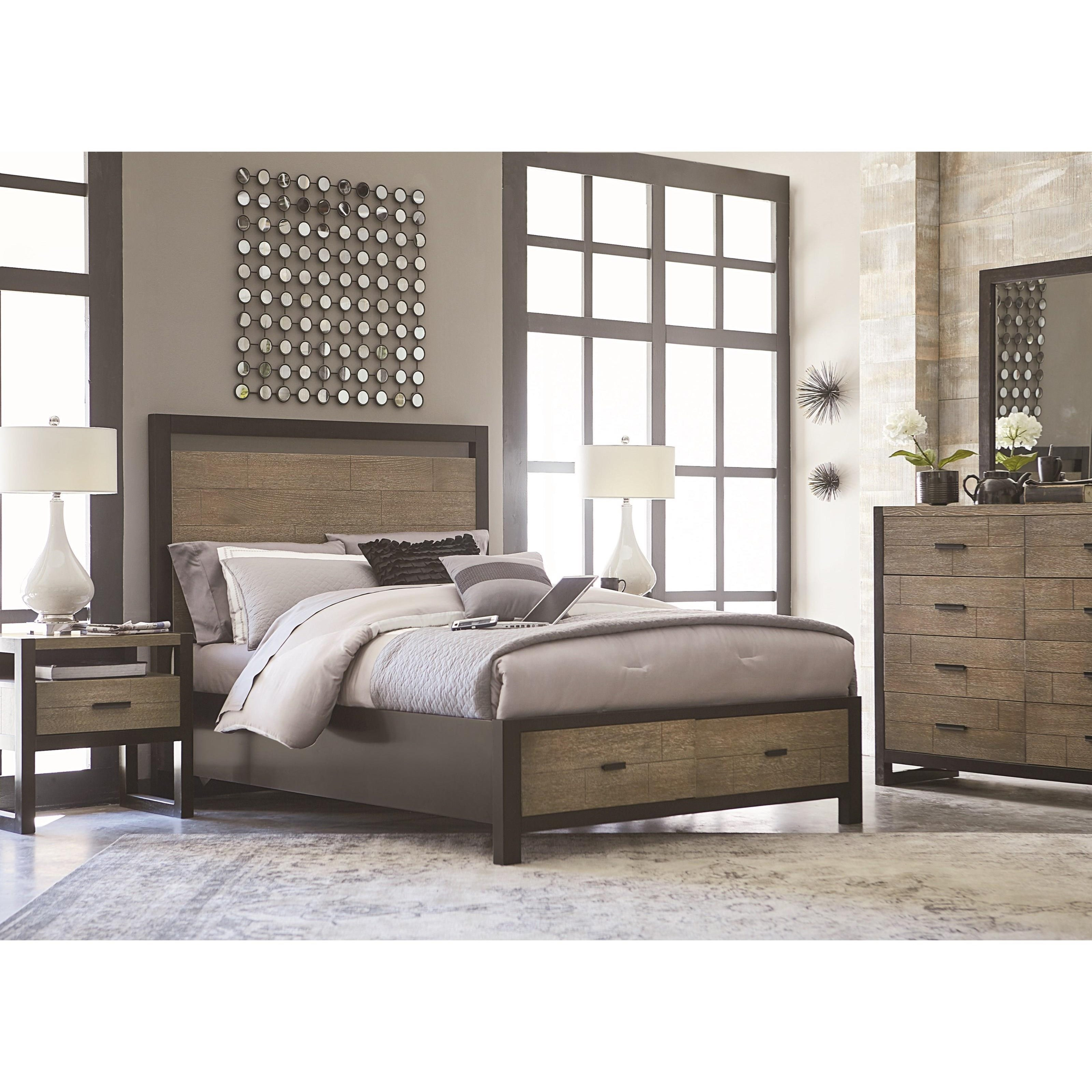 Legacy Classic Helix California King Complete Panel Bed With Storage Footboard Fashion