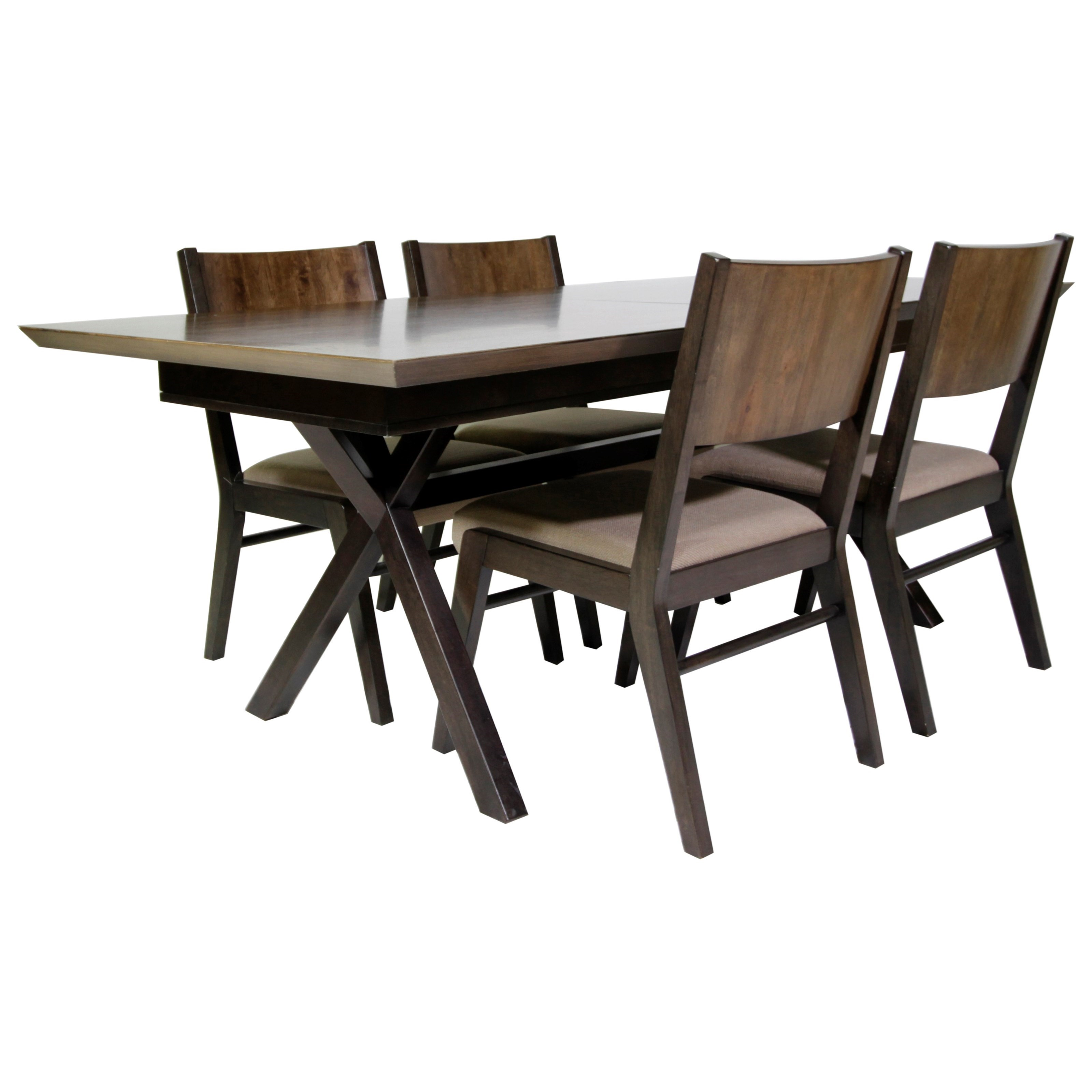 Legacy classic kateri 5 piece trestle table dining set for Legacy classic dining table