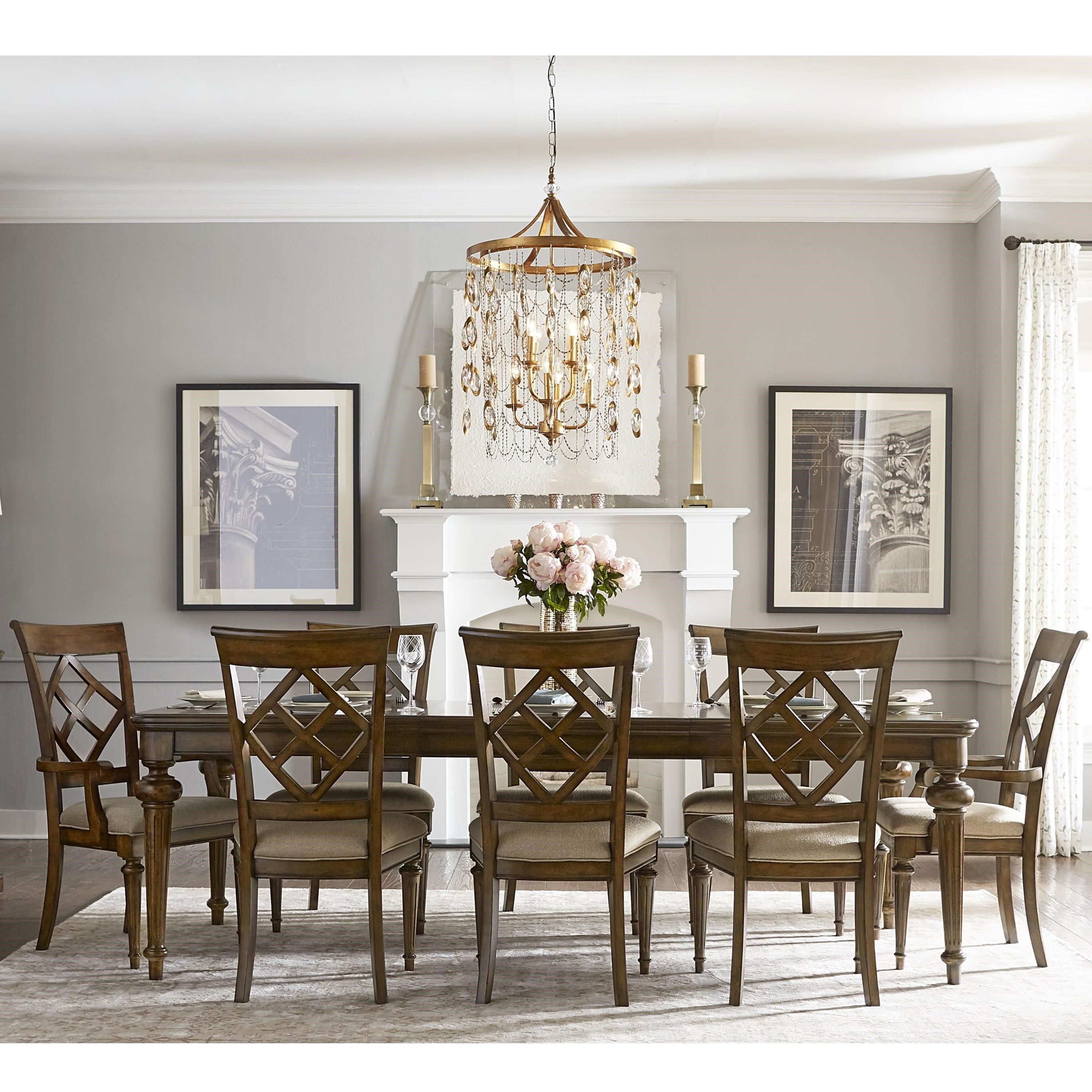 Legacy classic latham 9 piece dining set with diamond back for Legacy classic dining room furniture
