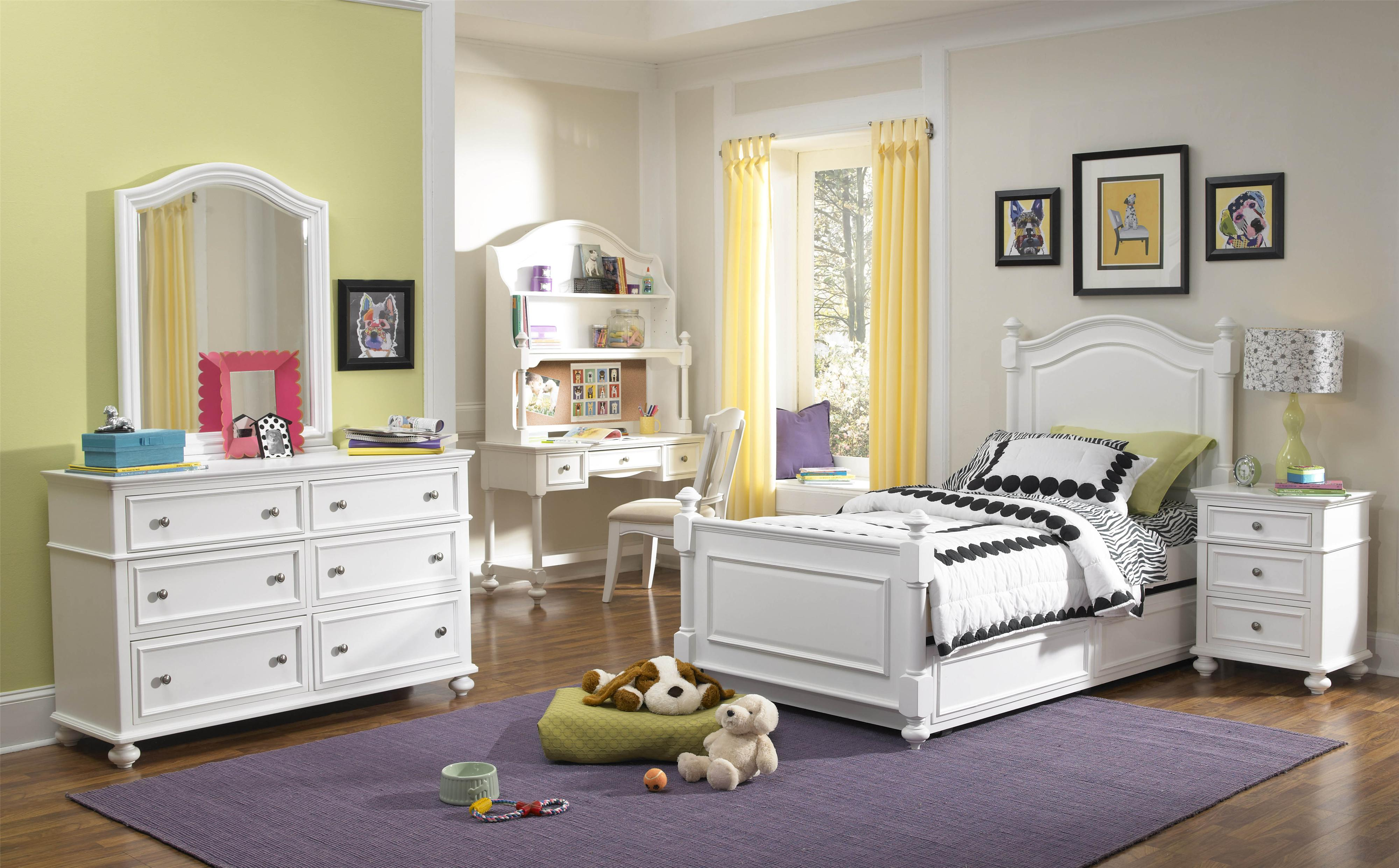 Legacy Classic Kids Madison Classic Dresser With 6 Drawers And Arched Mirror Belfort Furniture
