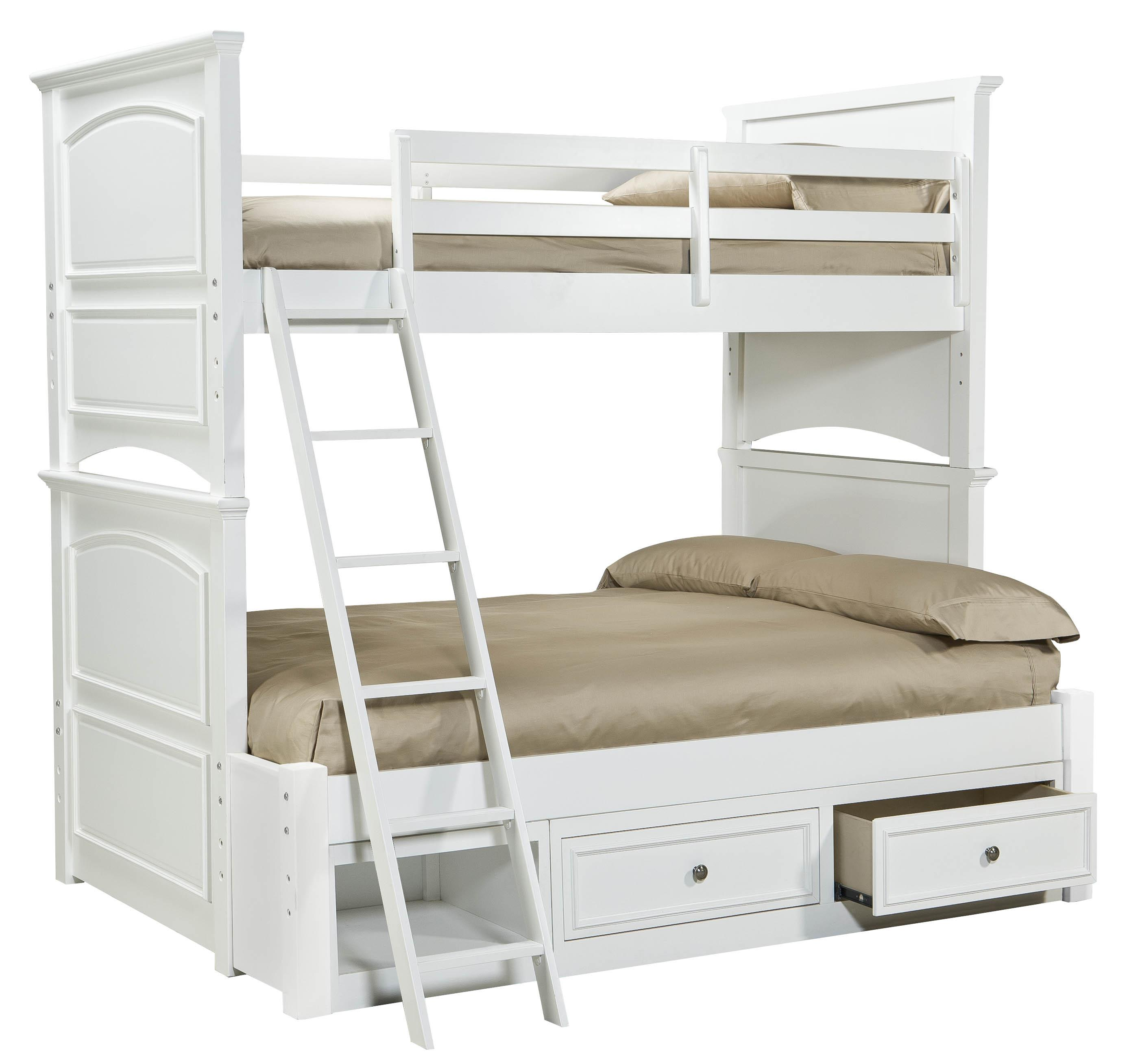 Legacy classic kids madison classic twin over full size for Over bed shelving unit