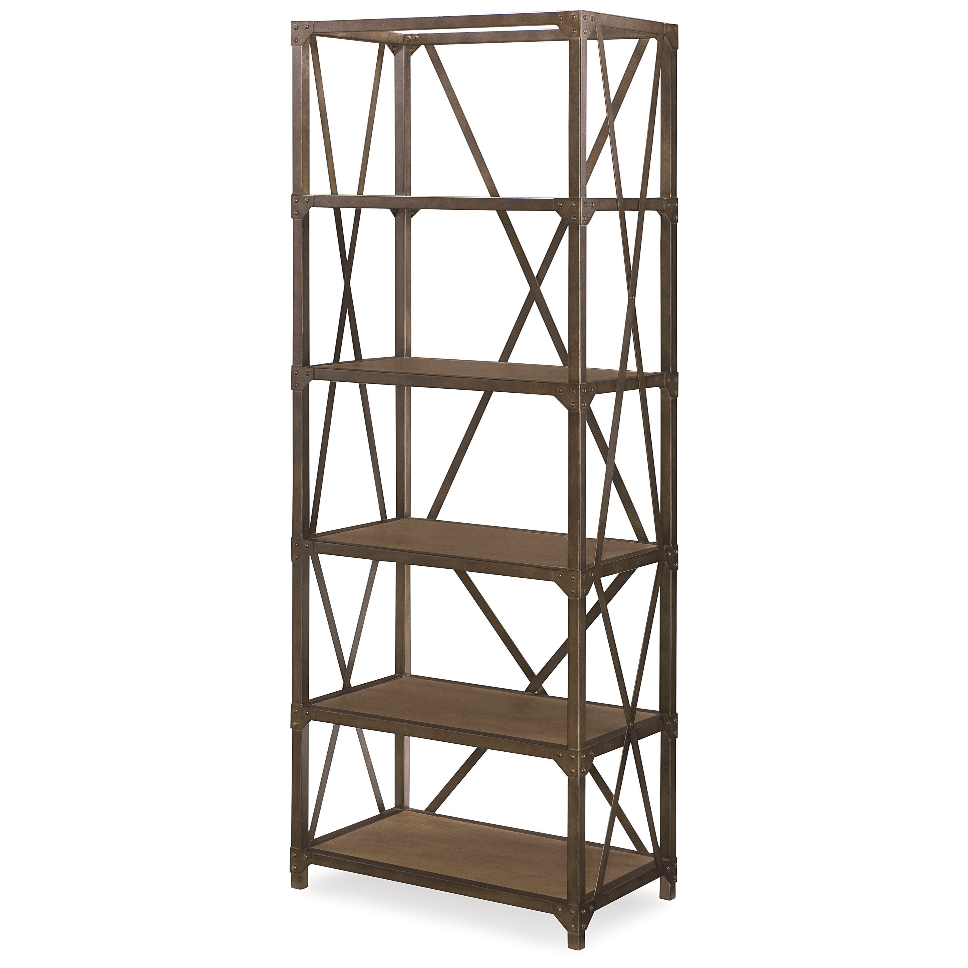 legacy classic metalworks etagere with 5 shelves wayside furniture open bookcase. Black Bedroom Furniture Sets. Home Design Ideas