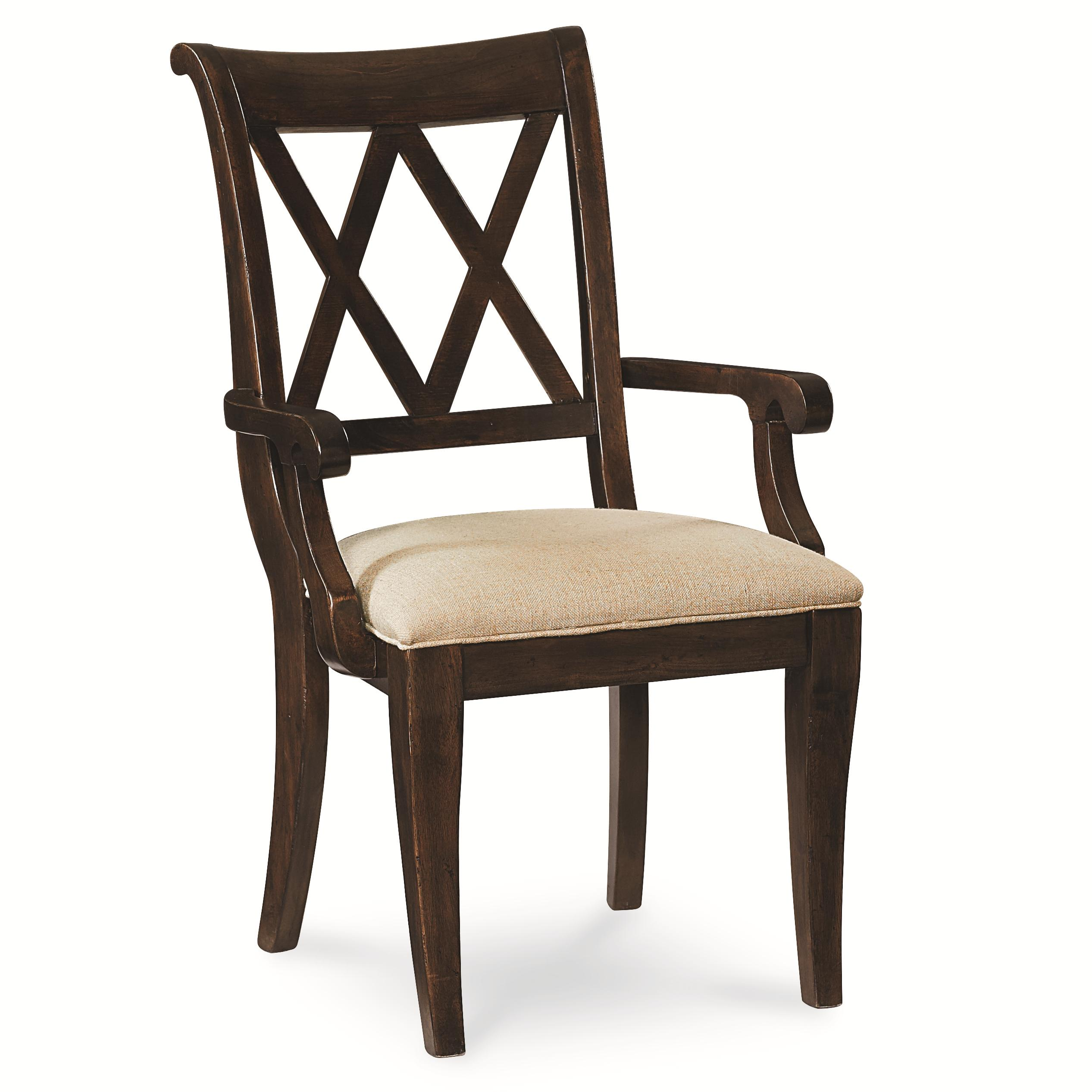 Legacy classic thatcher x back arm chair with tapered legs for Legacy classic dining room furniture