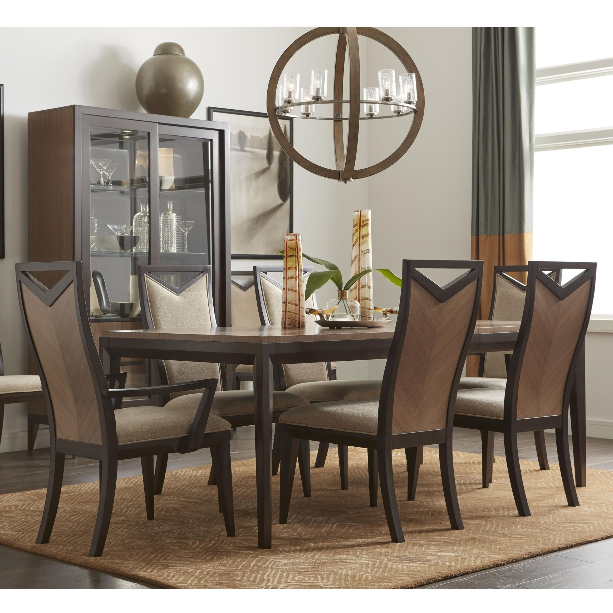 Legacy classic urban rhythm 7 piece dining set belfort for Legacy classic dining room furniture