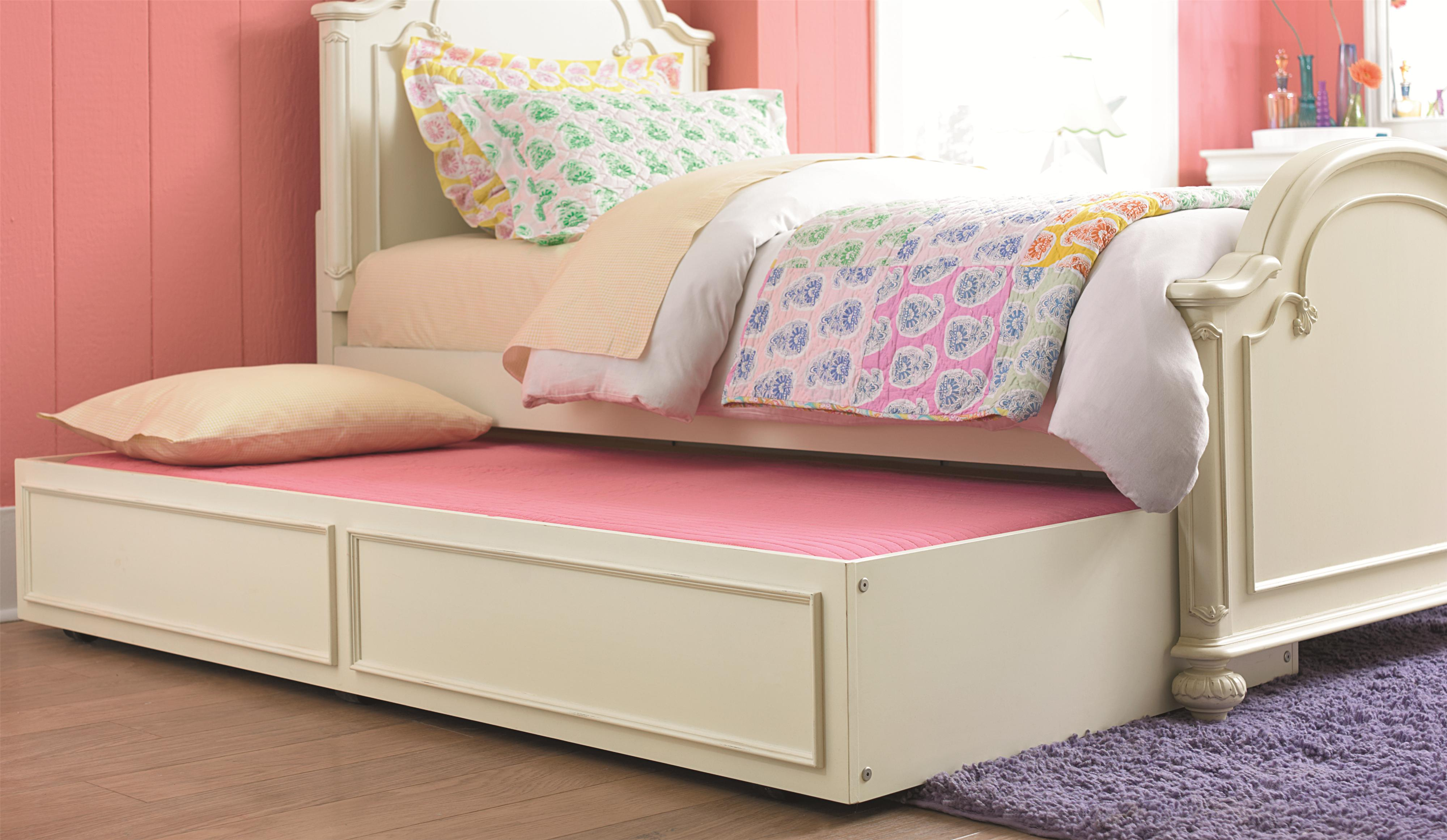 Charlotte Full Arched Panel Bed With Trundle Unit By