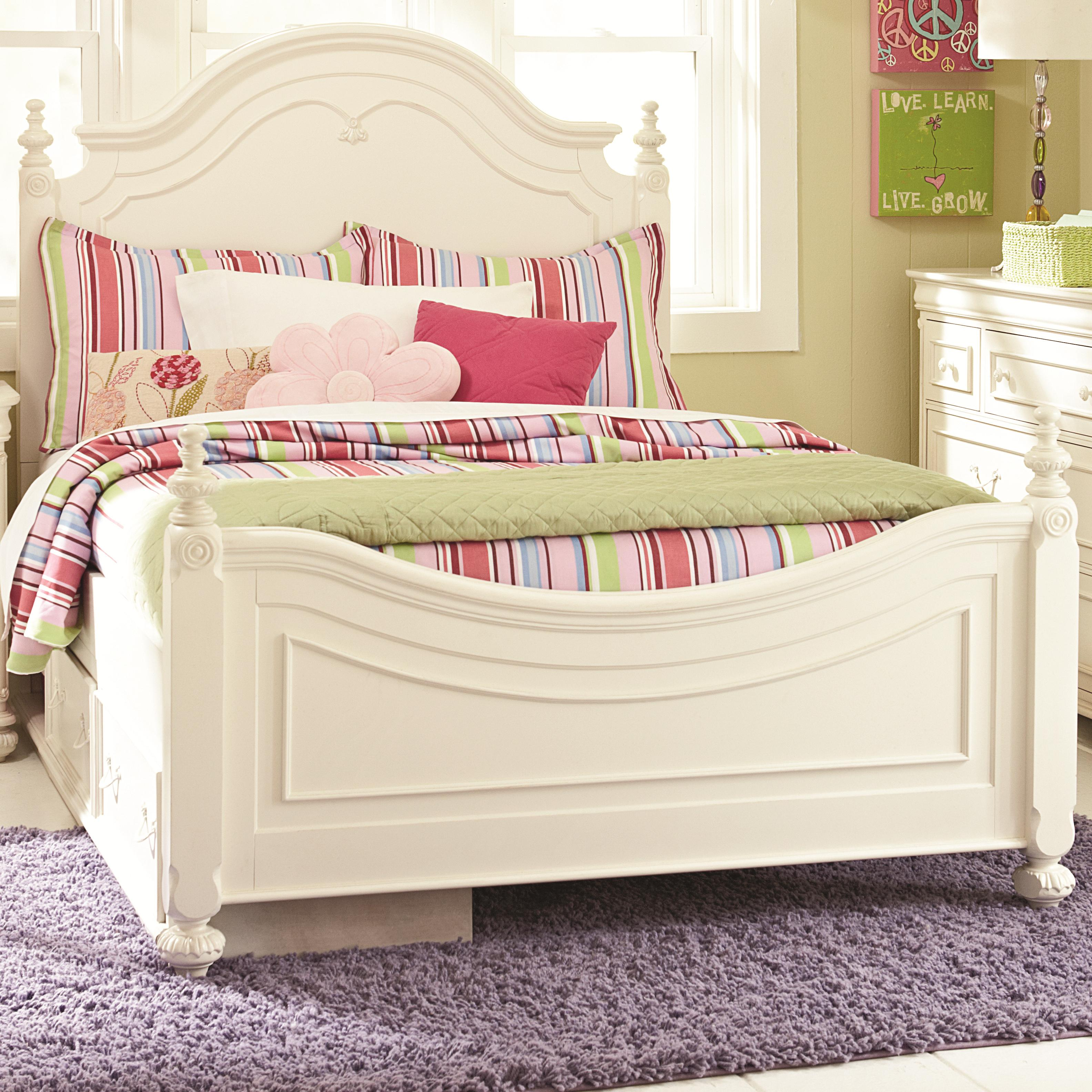 Legacy classic kids charlotte full low poster bed with for Legacy classic bed