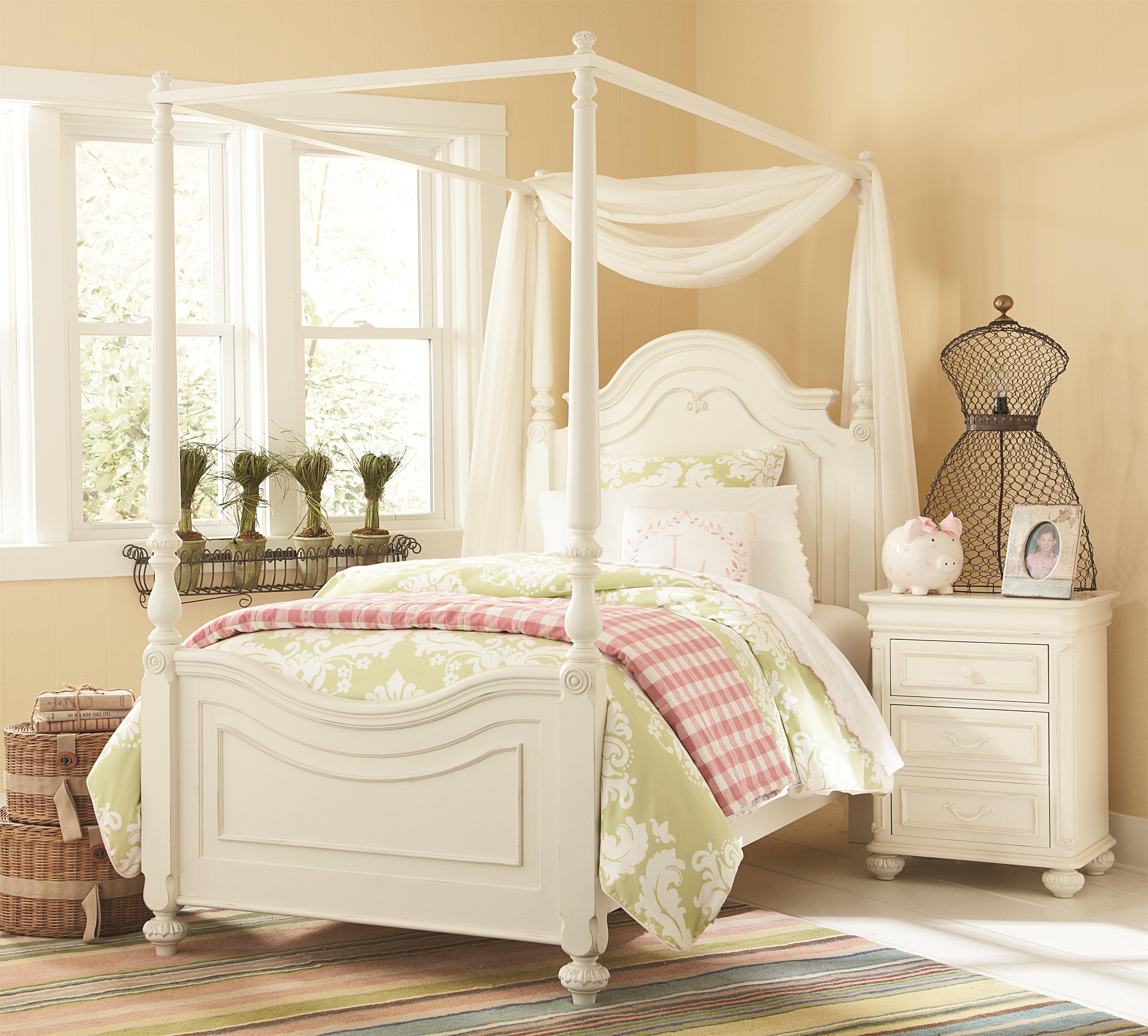 Charlotte Full Low Poster Bed With Canopy Frame By Legacy
