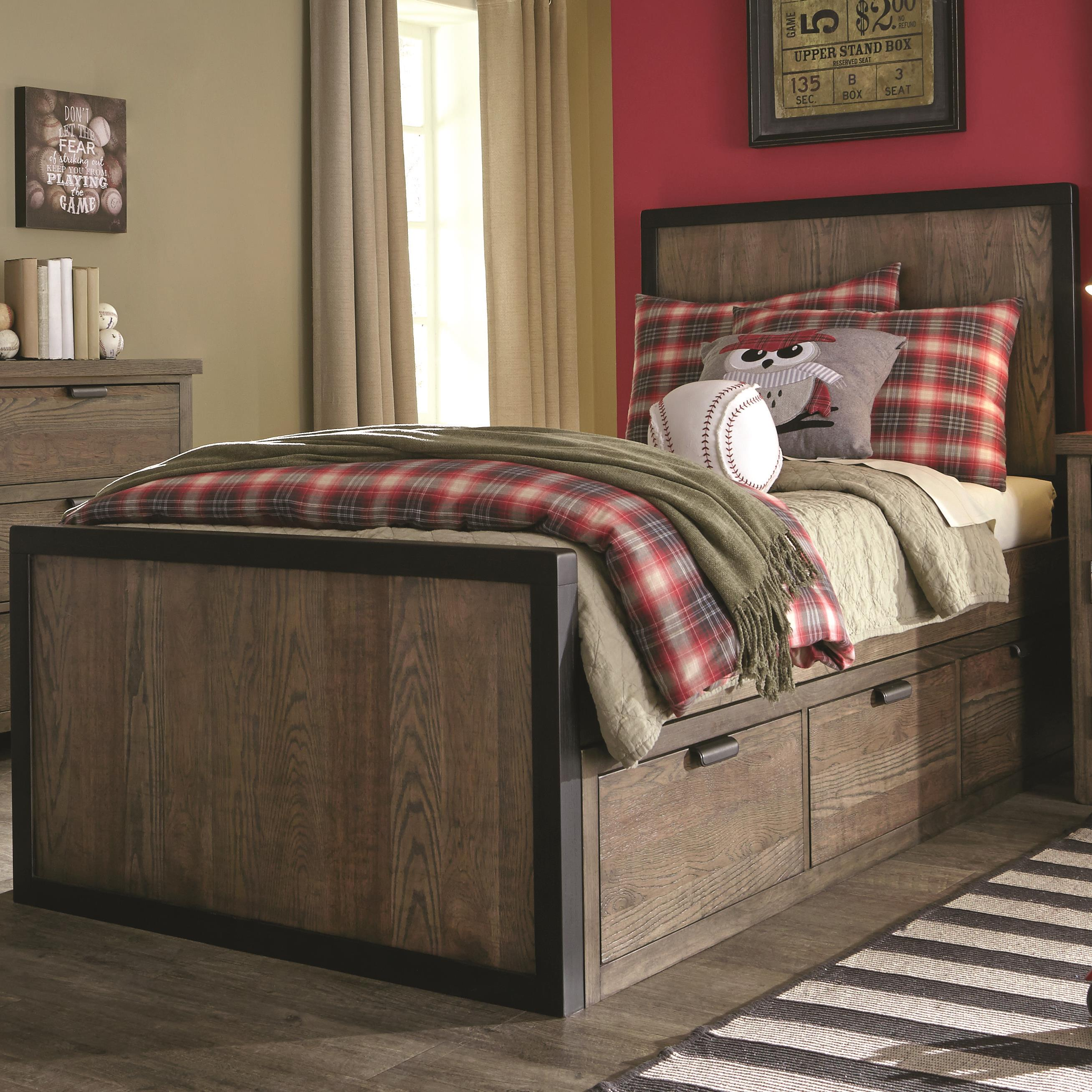 Legacy classic kids fulton county full panel bed with 3 for Legacy classic bed