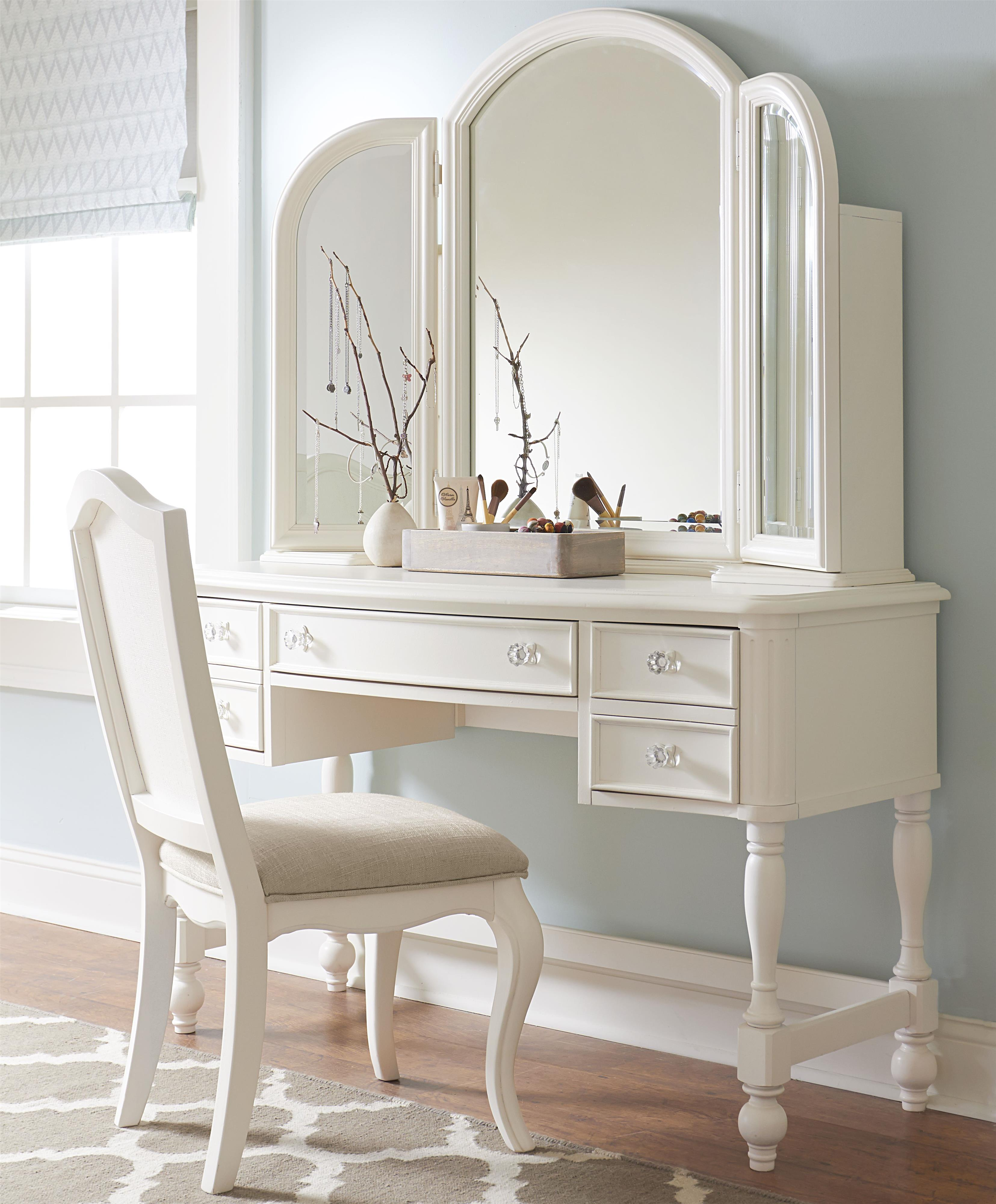 Legacy classic kids harmony desk vanity mirror with for Vanity with chair and mirror