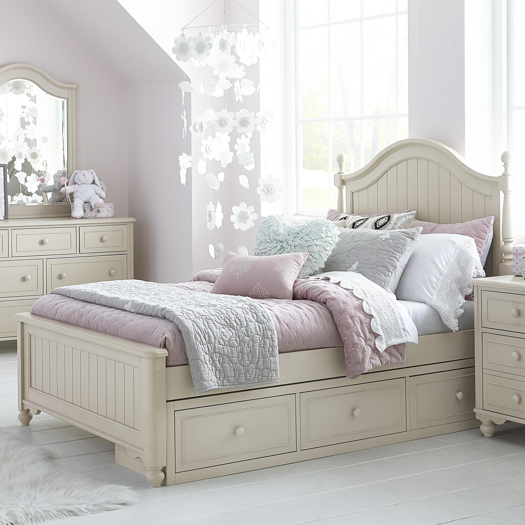 Legacy classic kids summerset full bed with storage drawer for Legacy classic bed