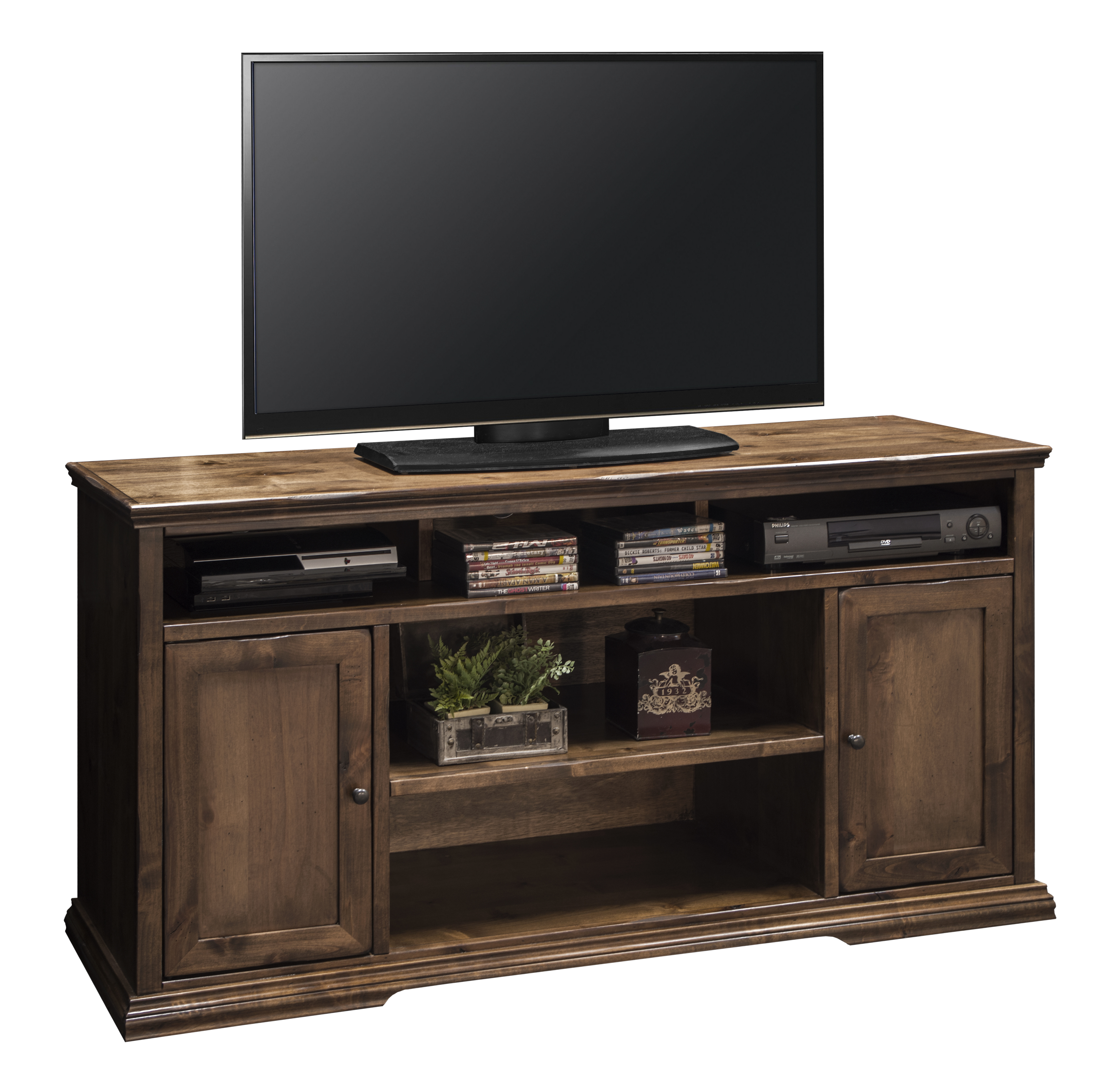 Legends furniture bozeman collection 60 tv console with rear cord management vandrie home Home furniture tv stands