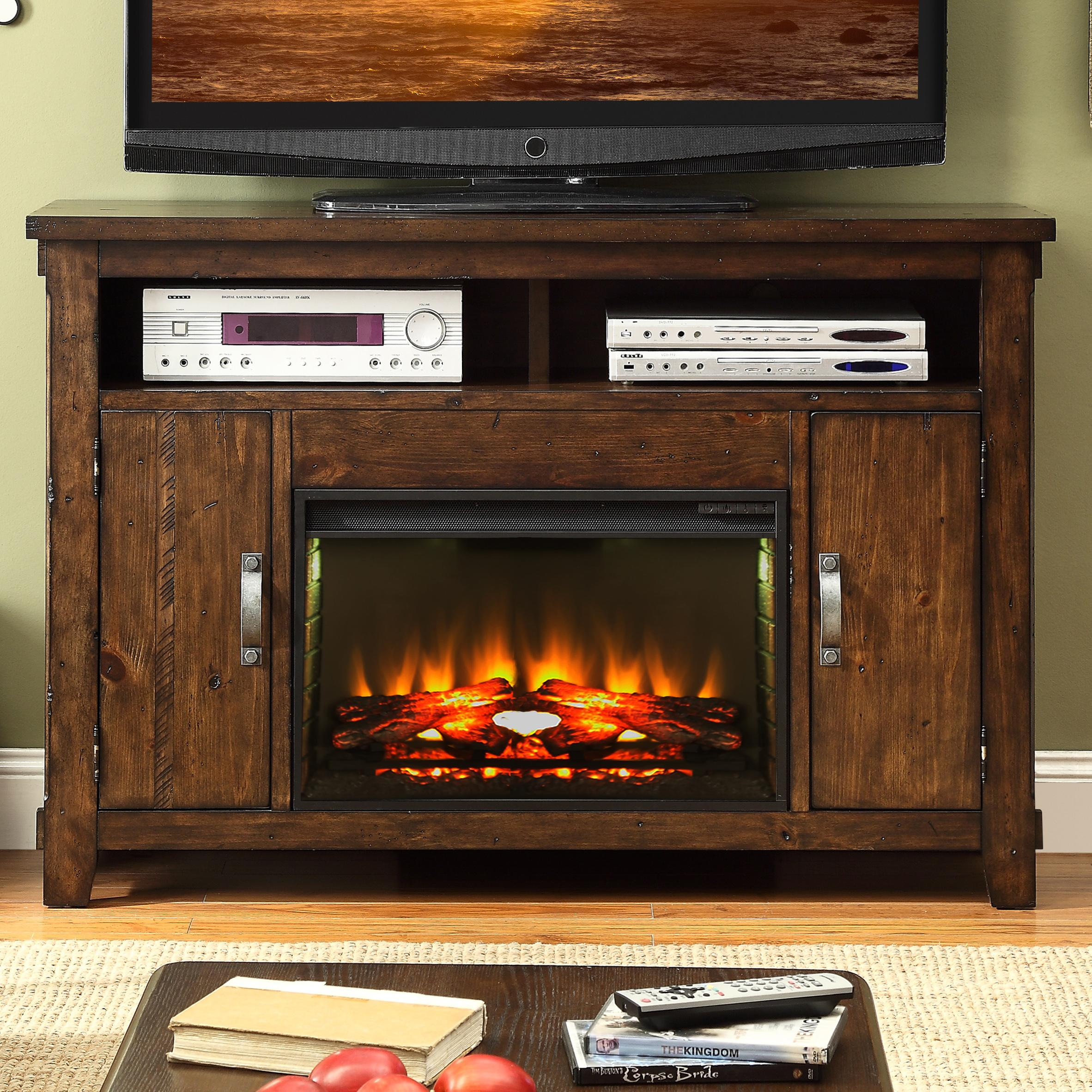Shop for the Legends Furniture Restoration Fireplace Console at Wayside Furniture - Your Akron