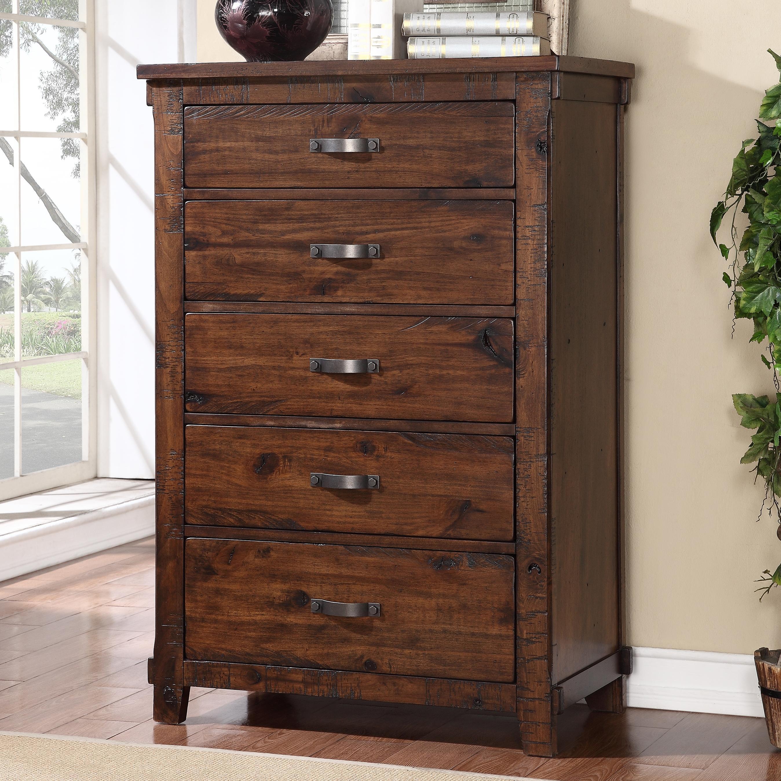 Legends furniture restoration zrst 7016 rustic restoration 5 drawer chest del sol furniture for Refurbished bedroom furniture