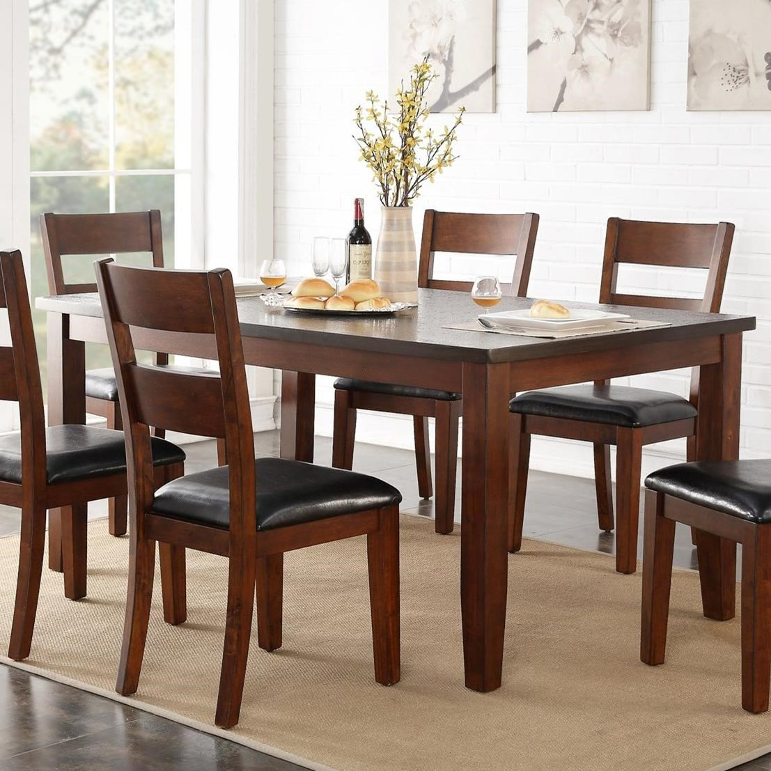 Legends furniture rockport zrpt 8060 72 dining table with for Best dining room table finish