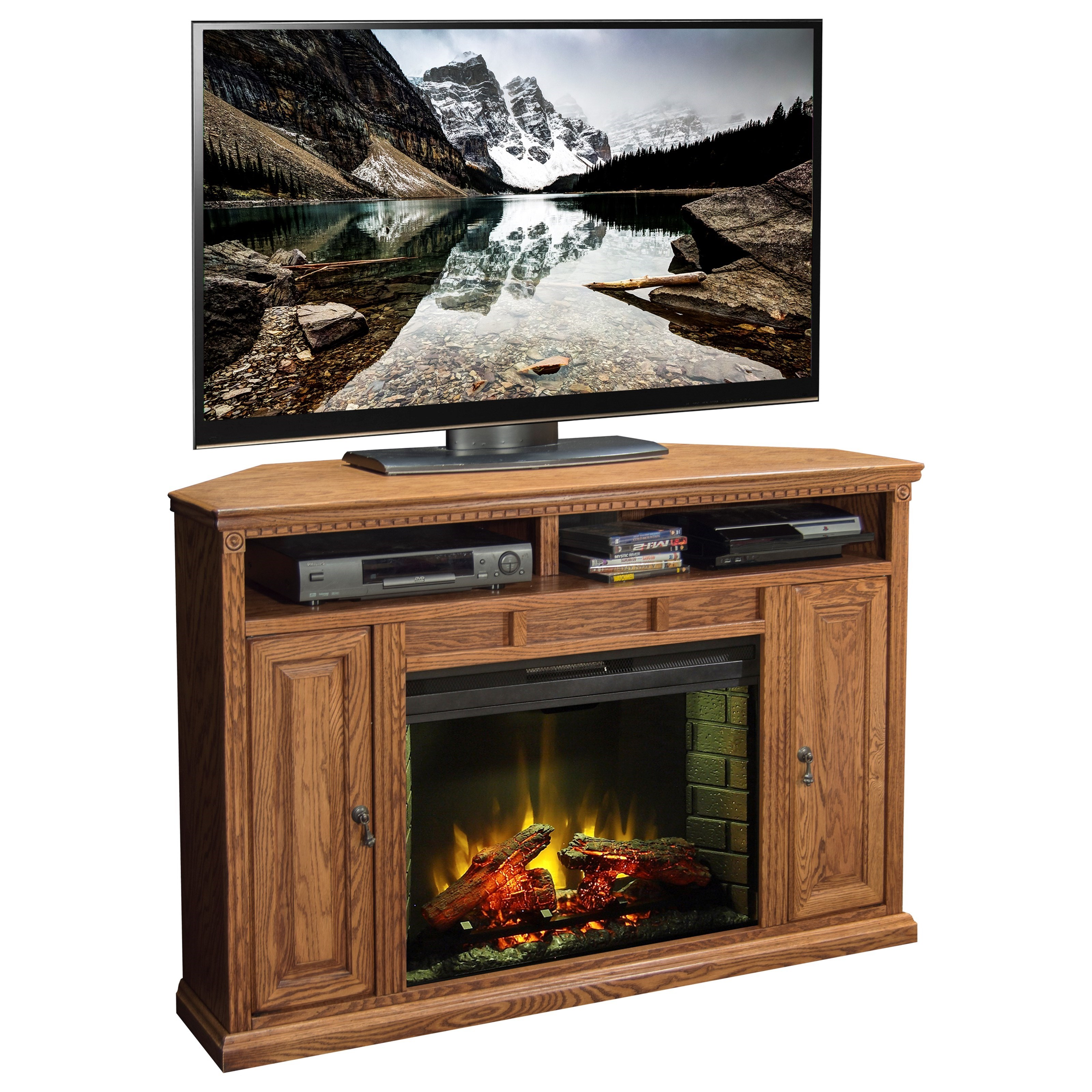 legends furniture scottsdale 56 inch corner fireplace