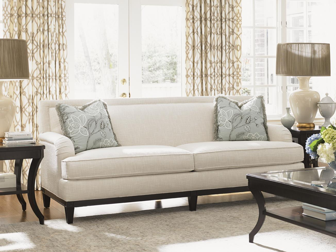 Lexington kensington place transitional aubrey sofa with