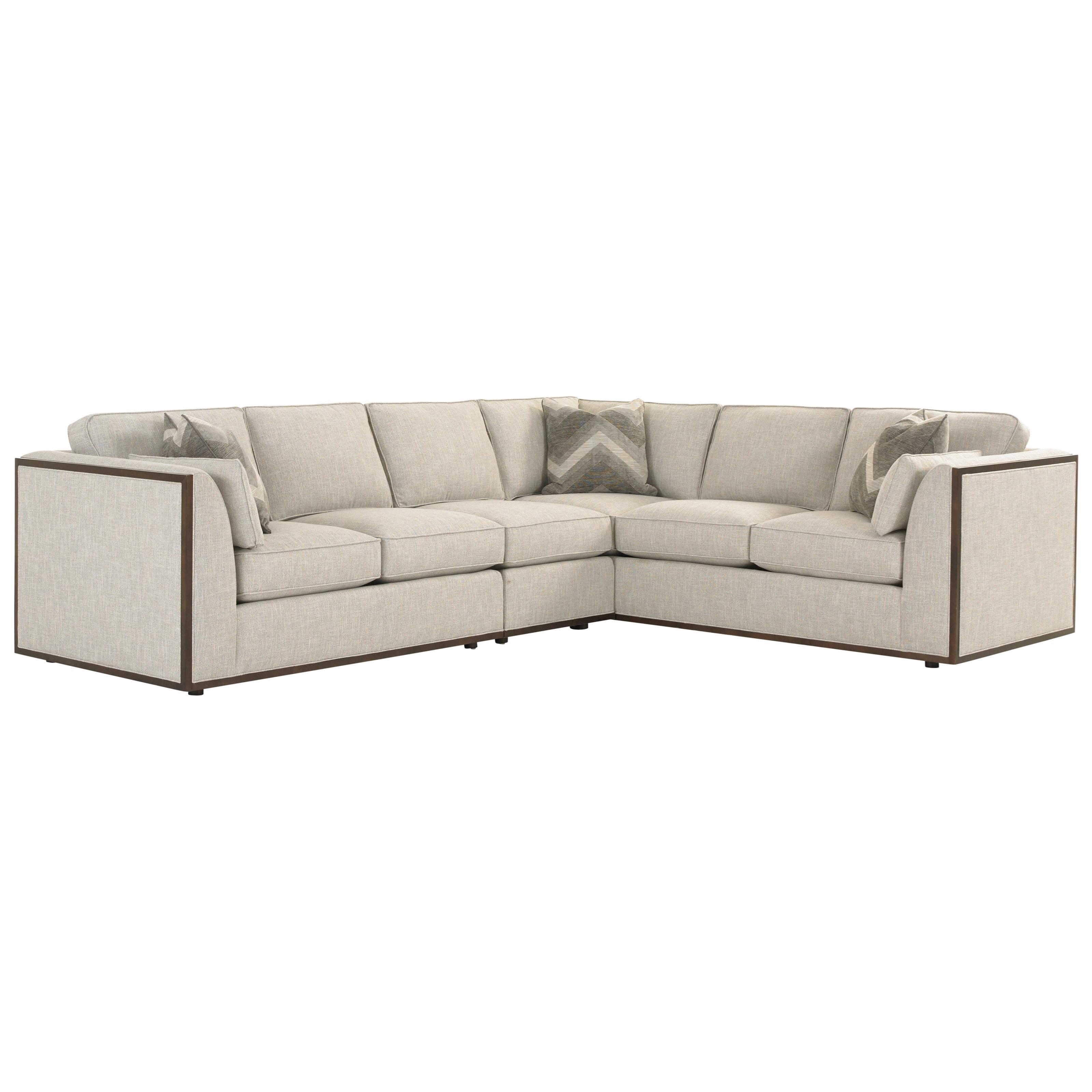 Lexington macarthur park westcliffe three piece corner for 3 piece corner sectional sofa