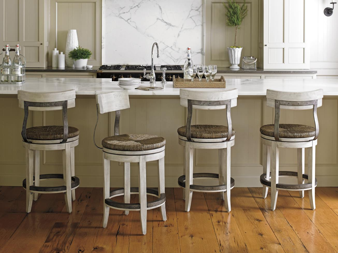 Lexington Oyster Bay Merrick Swivel Counter Stool With