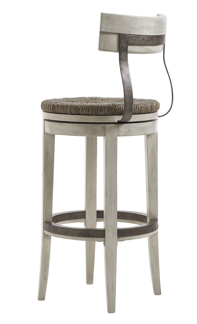 Lexington Oyster Bay Merrick Swivel Bar Stool With Rush