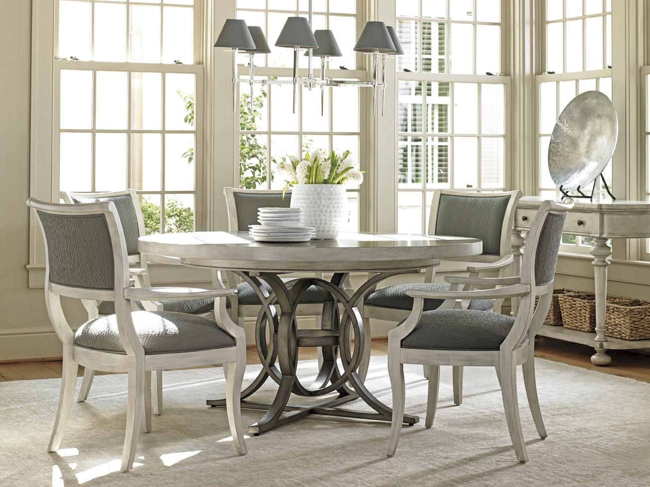 Lexington Oyster Bay 714 875c Calerton Round Dining Table With Extension Leaf Baer 39 S Furniture