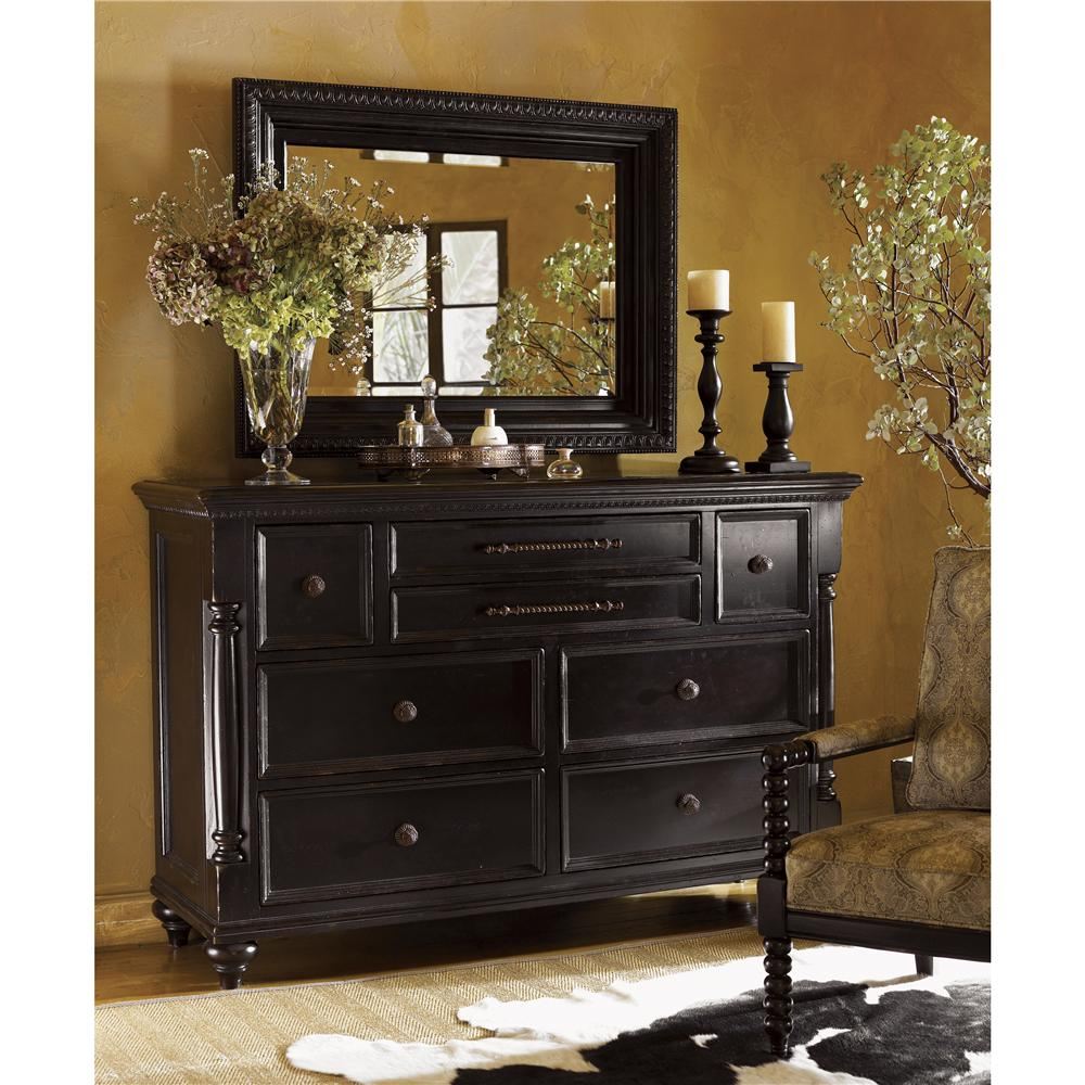 Tommy Bahama Home Kingstown Stony Point Triple Dresser And Fairpoint Mirror Combo Hudson 39 S
