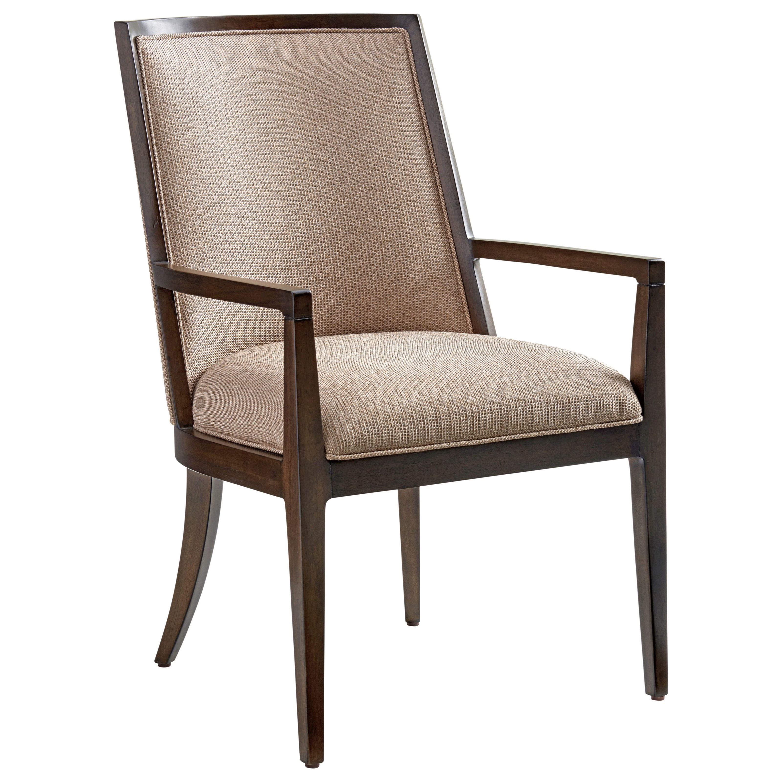 Lexington zavala ellipsis upholstered arm chair reeds for Upholstered arm dining chairs
