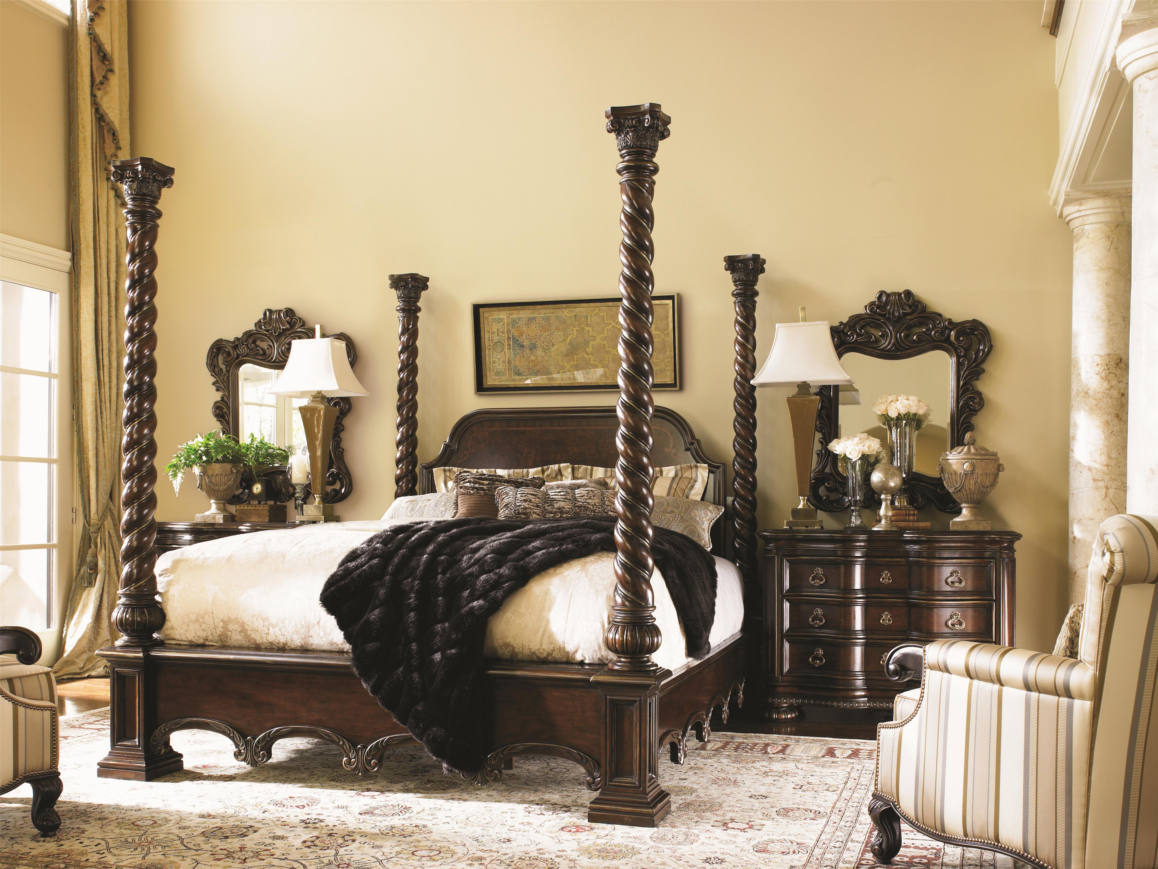Lexington Florentino 900 173c Queen Soaring Spiral Post Bed Baer 39 S Furniture Poster Beds