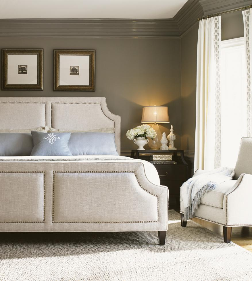 Lexington Kensington Place 708 144c King Chadwick Upholstered Bed With Brass Nailheads Baer 39 S