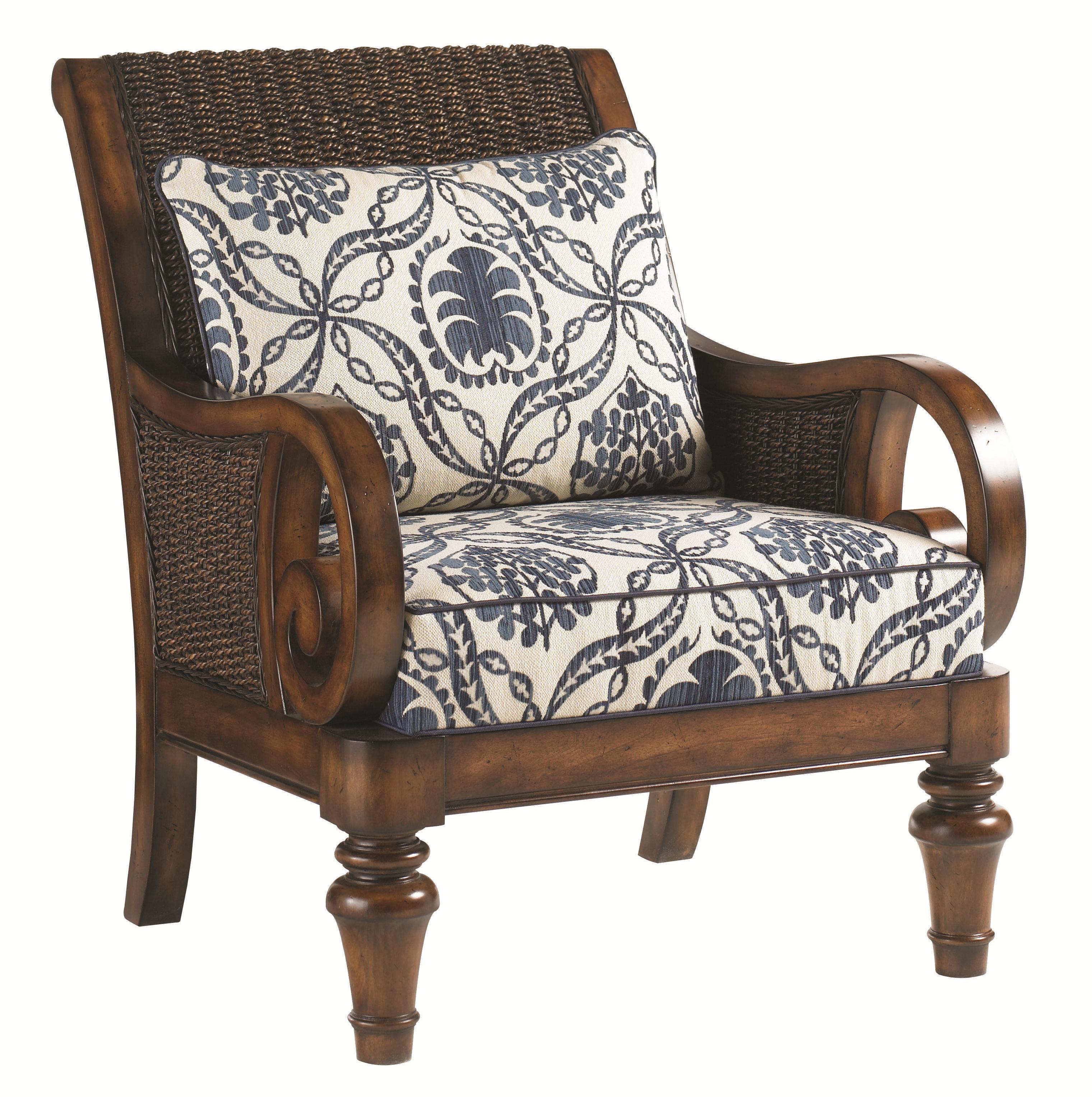 Lexington Lexington Upholstery Marin Chair Loose Back Water Hyacanith Chair Belfort