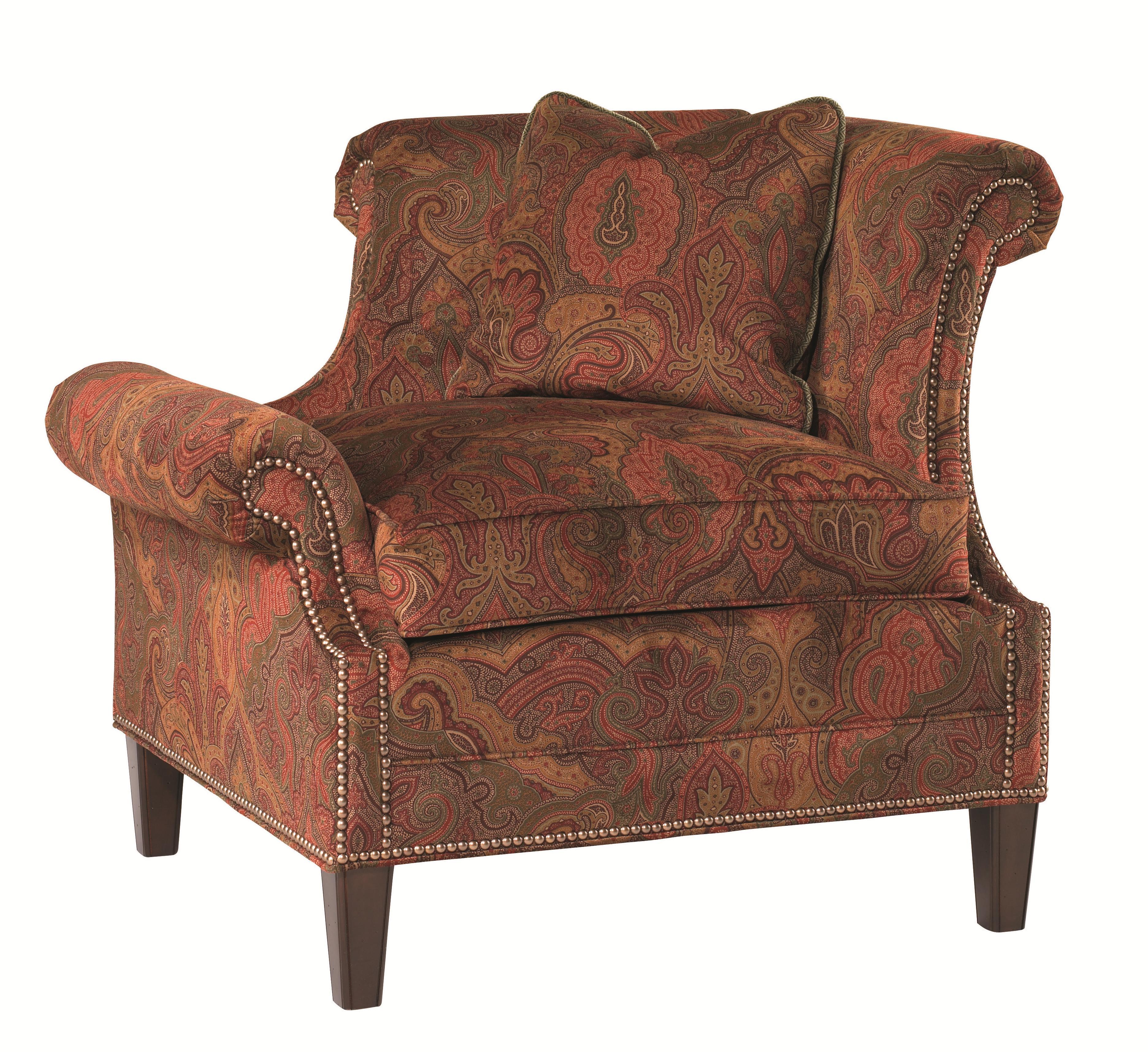 Lexington Lexington Upholstery Right Leaning Braddock Upholstered Chair Jacksonville Furniture