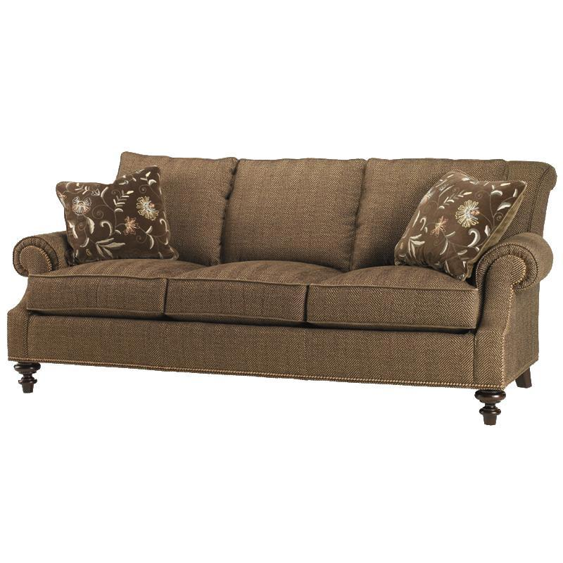 Lexington Lexington Upholstery 7871 33 Darby Loose Back Sofa With Rolled Arms And Turned Wood