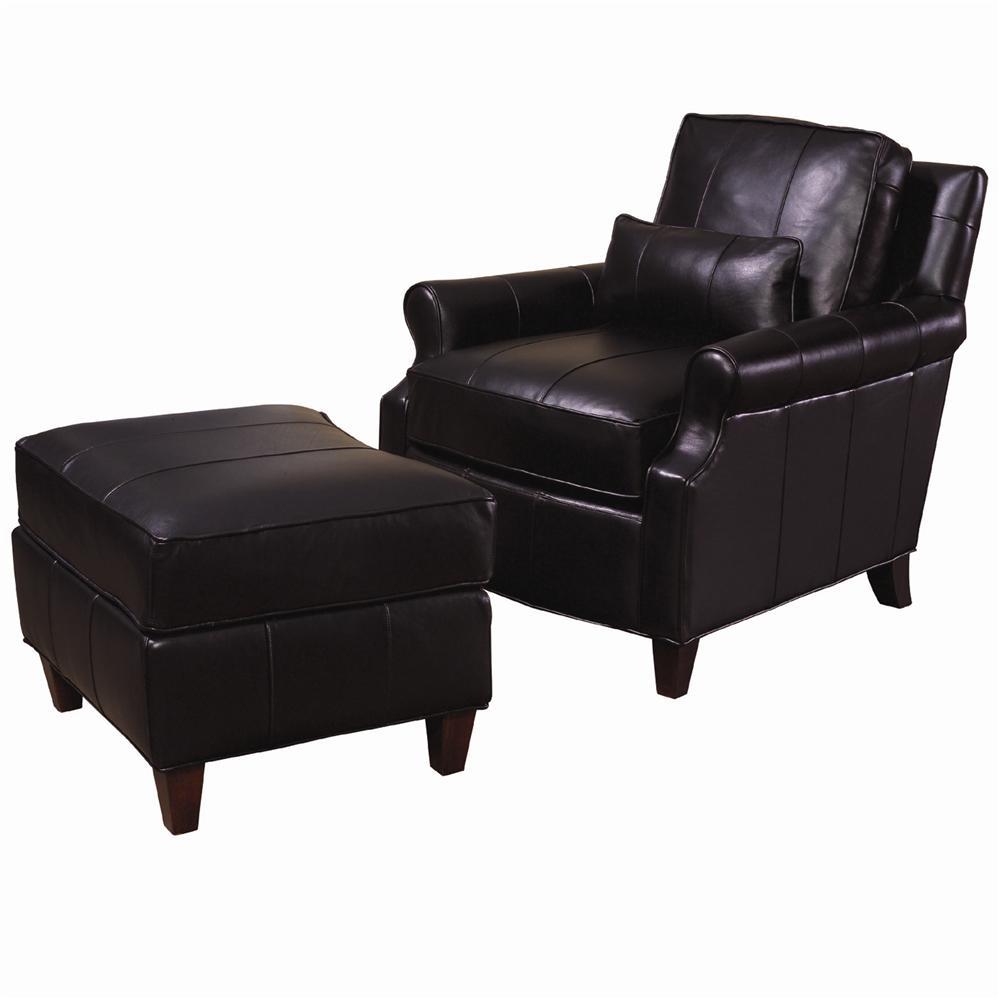 Lexington Lexington Leather Rosalind Leather Chair And Ottoman Zak 39 S Fine Furniture Chair