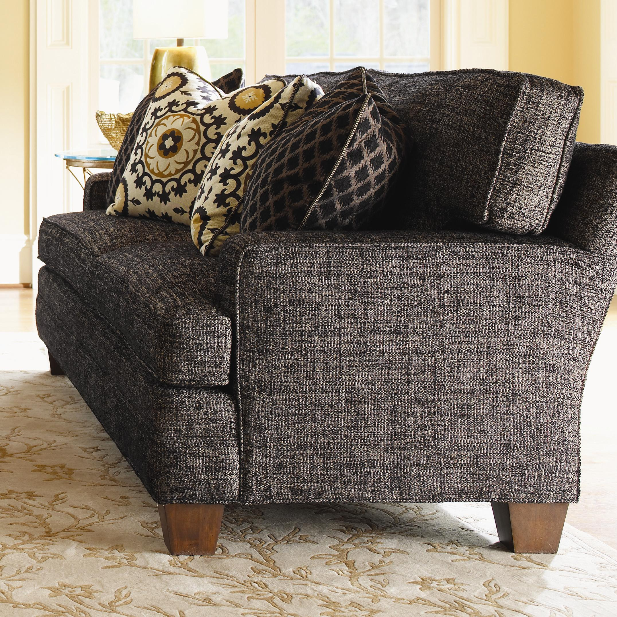 Lexington personal design series 7331 33 customizable mcconnell sofa with track arms and wood Home brands furniture trentham
