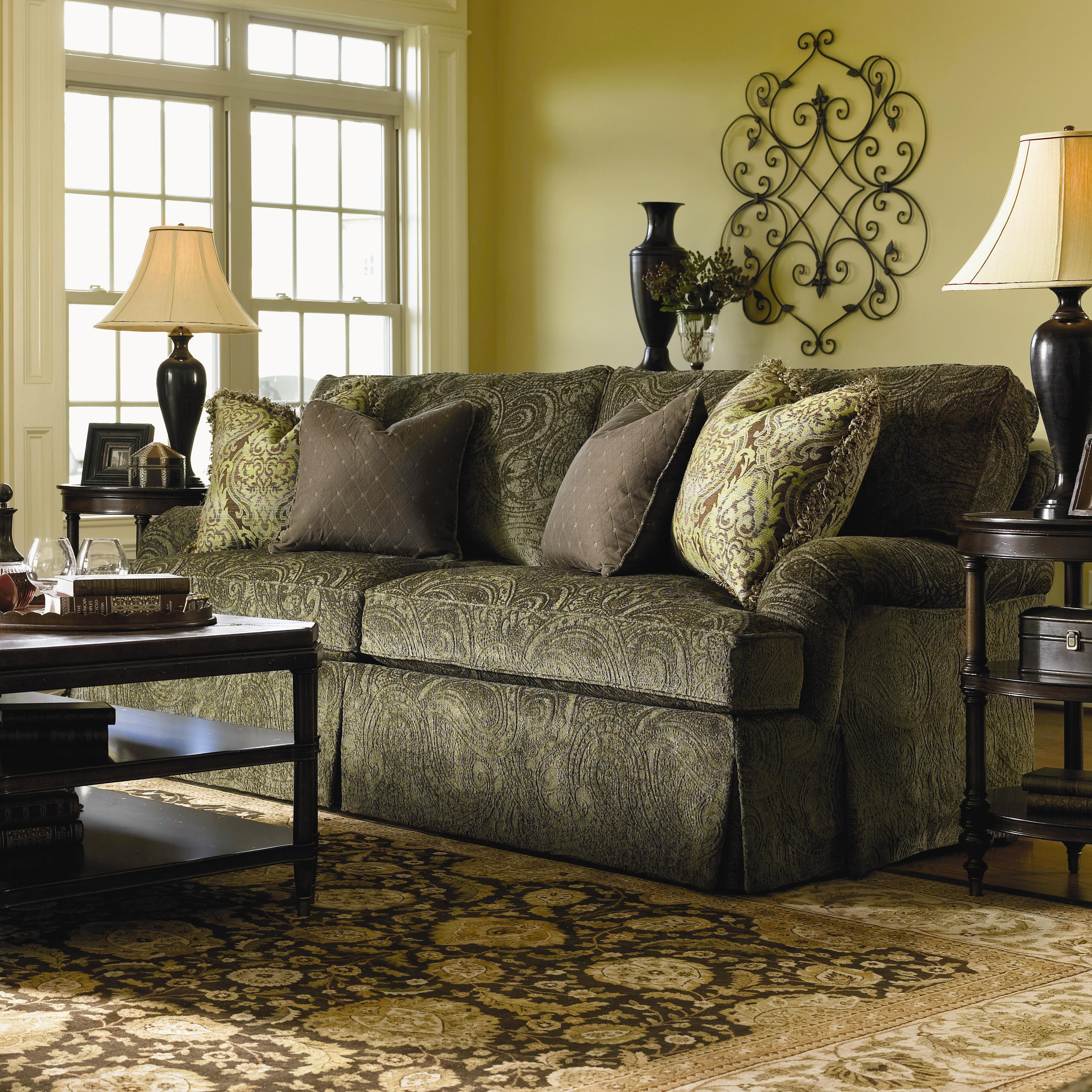 Lexington Personal Design Series Customizable Overland Sofa With English Arms And Kick Pleat