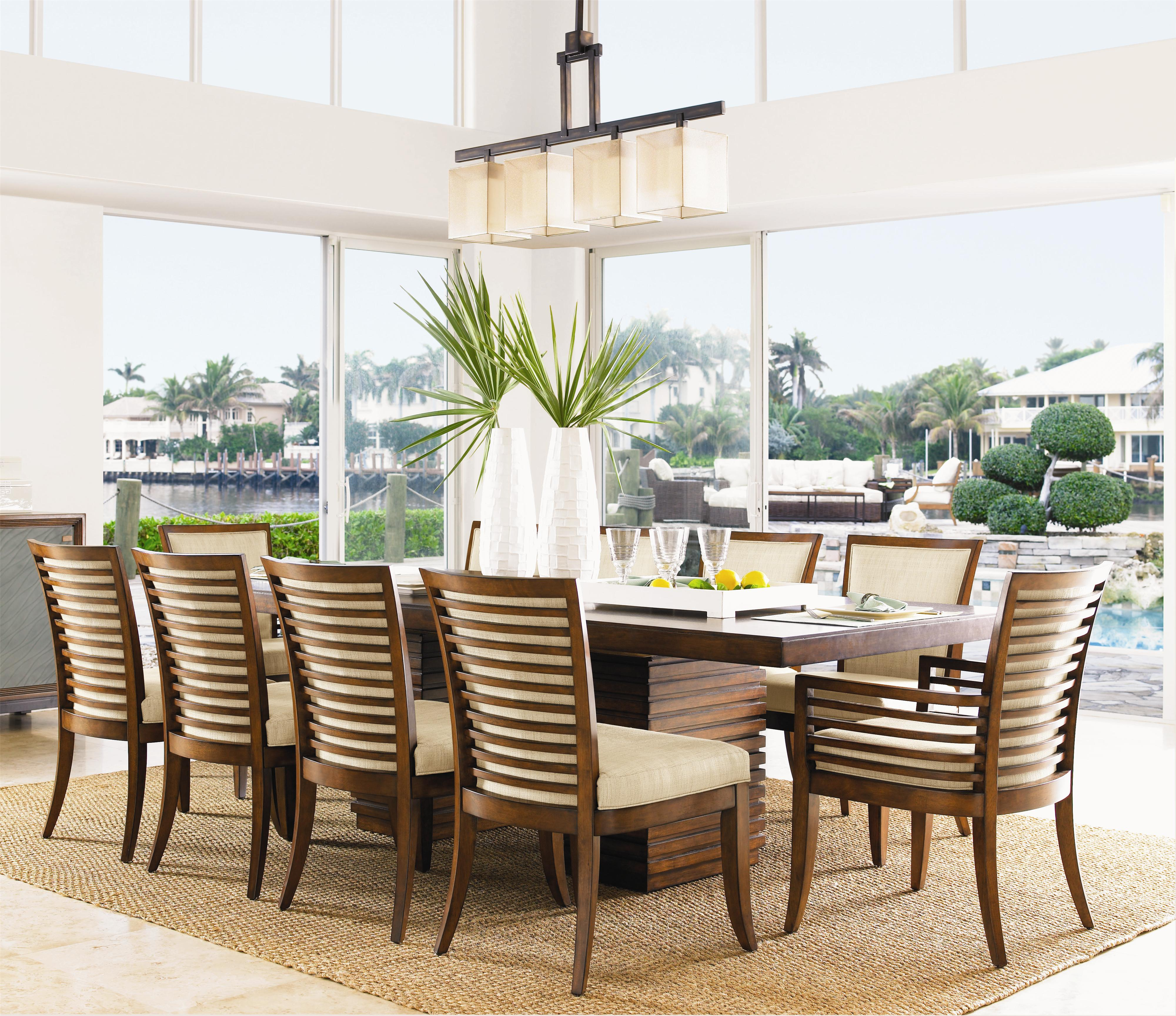 Tommy bahama home ocean club 11 piece peninsula dining for 11 piece dining table set