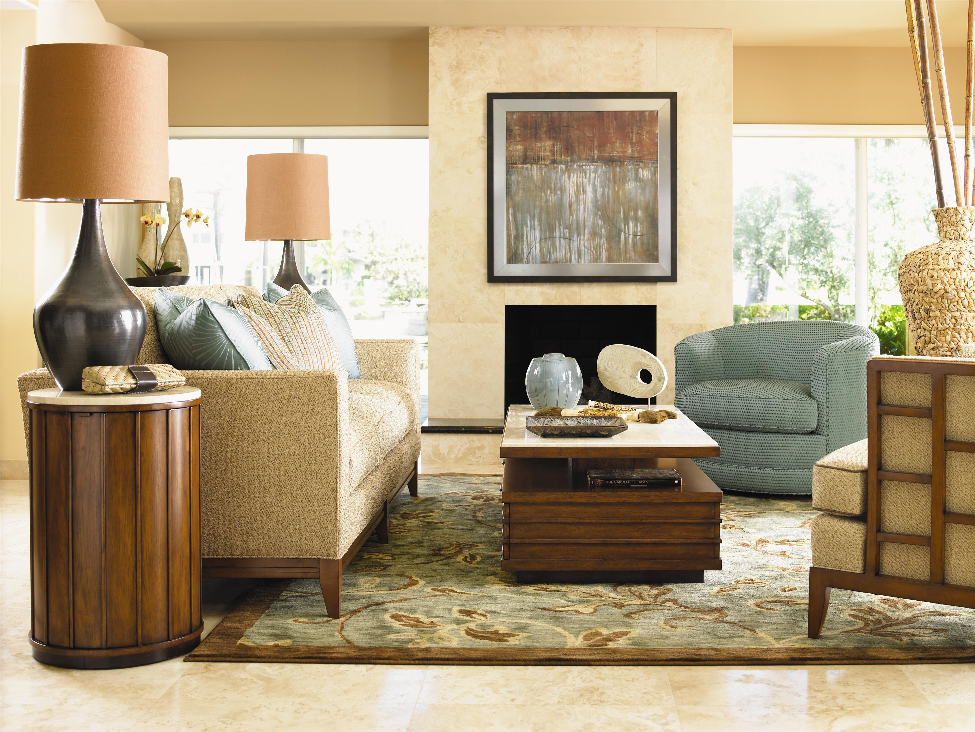 Tommy Bahama Home Ocean Club 7302 33 Ladera Sofa With Exposed Wood Base Legs Becker