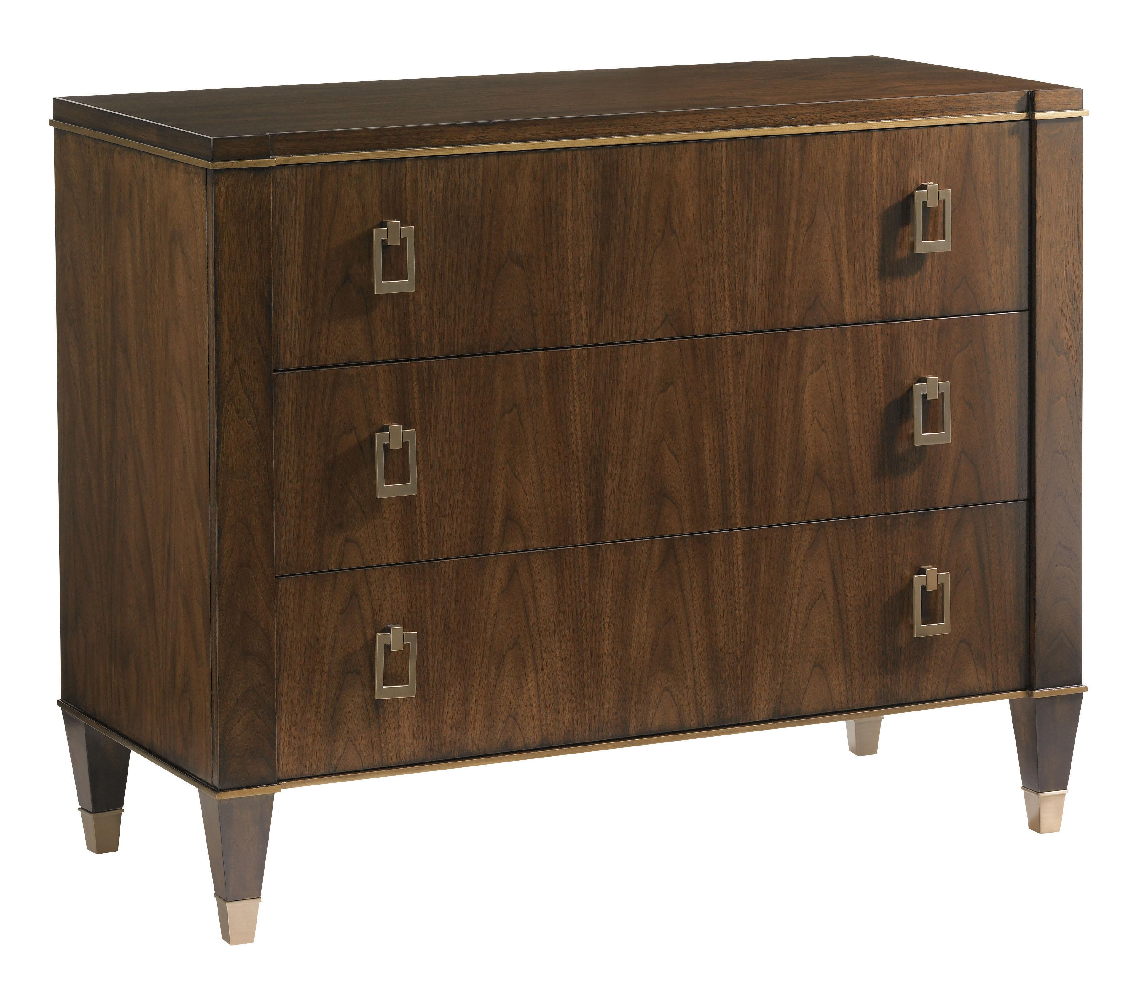 Lexington Tower Place Contemporary Evanston Single Dresser With Accents Of Gold Tipping