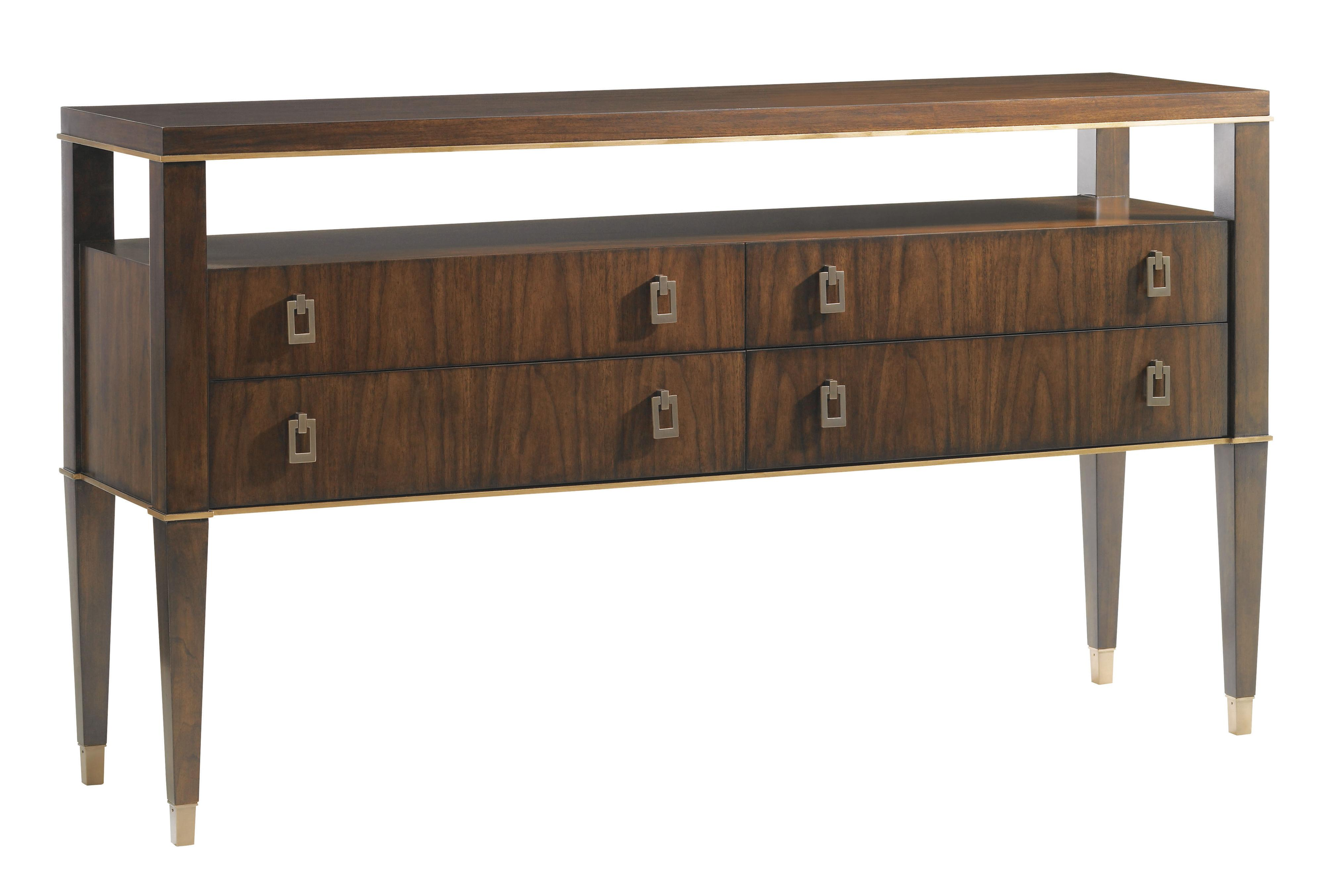 Lexington Tower Place 706 869 Lake Shore Sideboard With Open Storage And Felt Lined Silverware