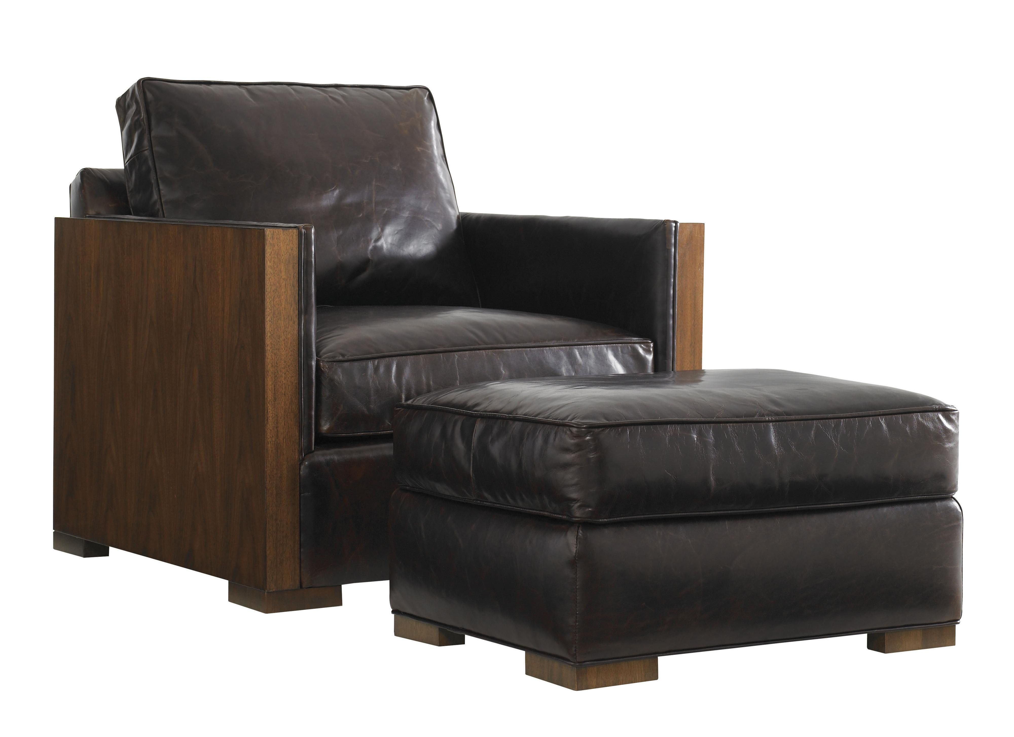 Lexington Tower Place Contemporary Edgemere Chair And Ottoman Belfort Furniture Chair