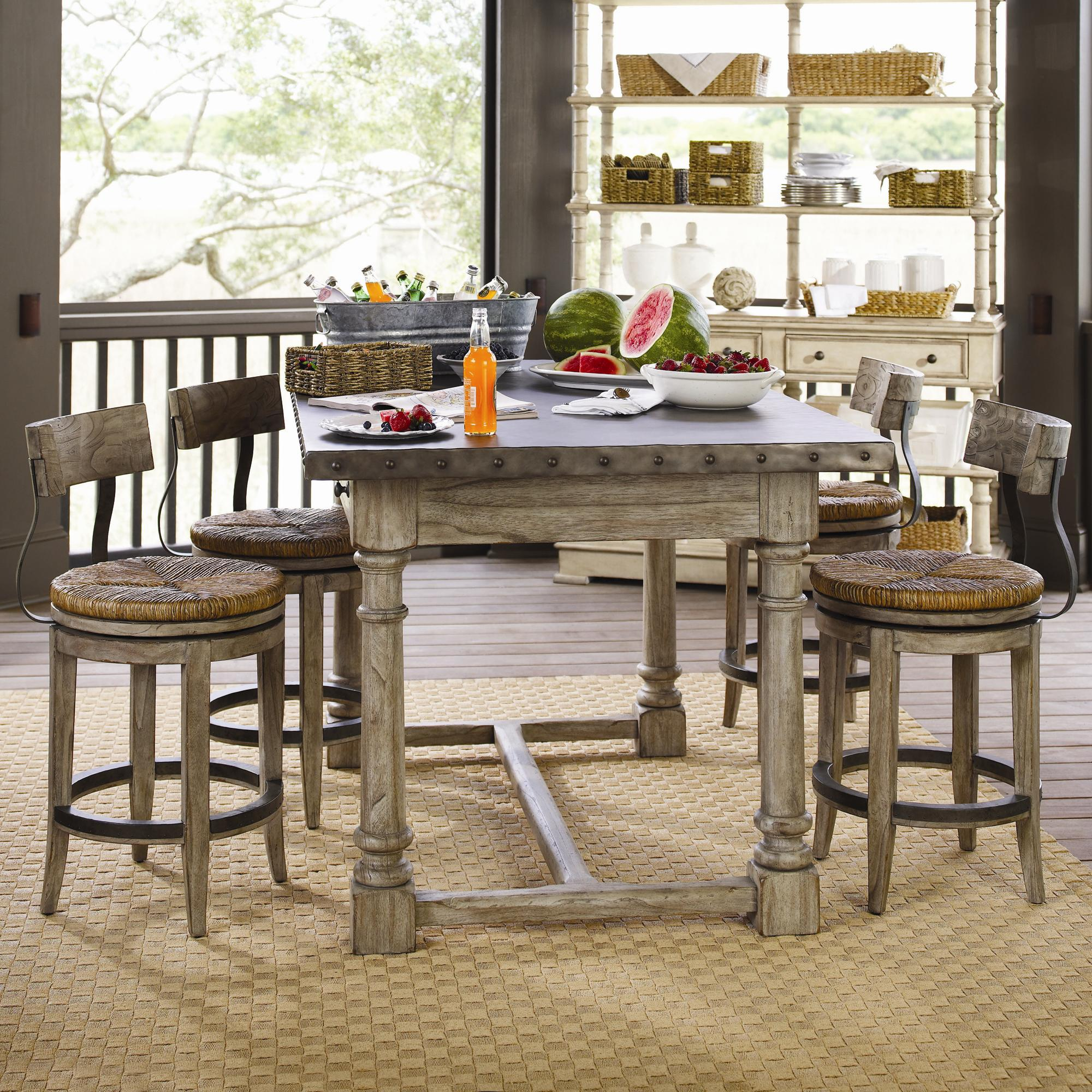 Lexington Twilight Bay 5 Piece Shelter Island Bistro Table Dalton Counter Stools Set Baer 39 S