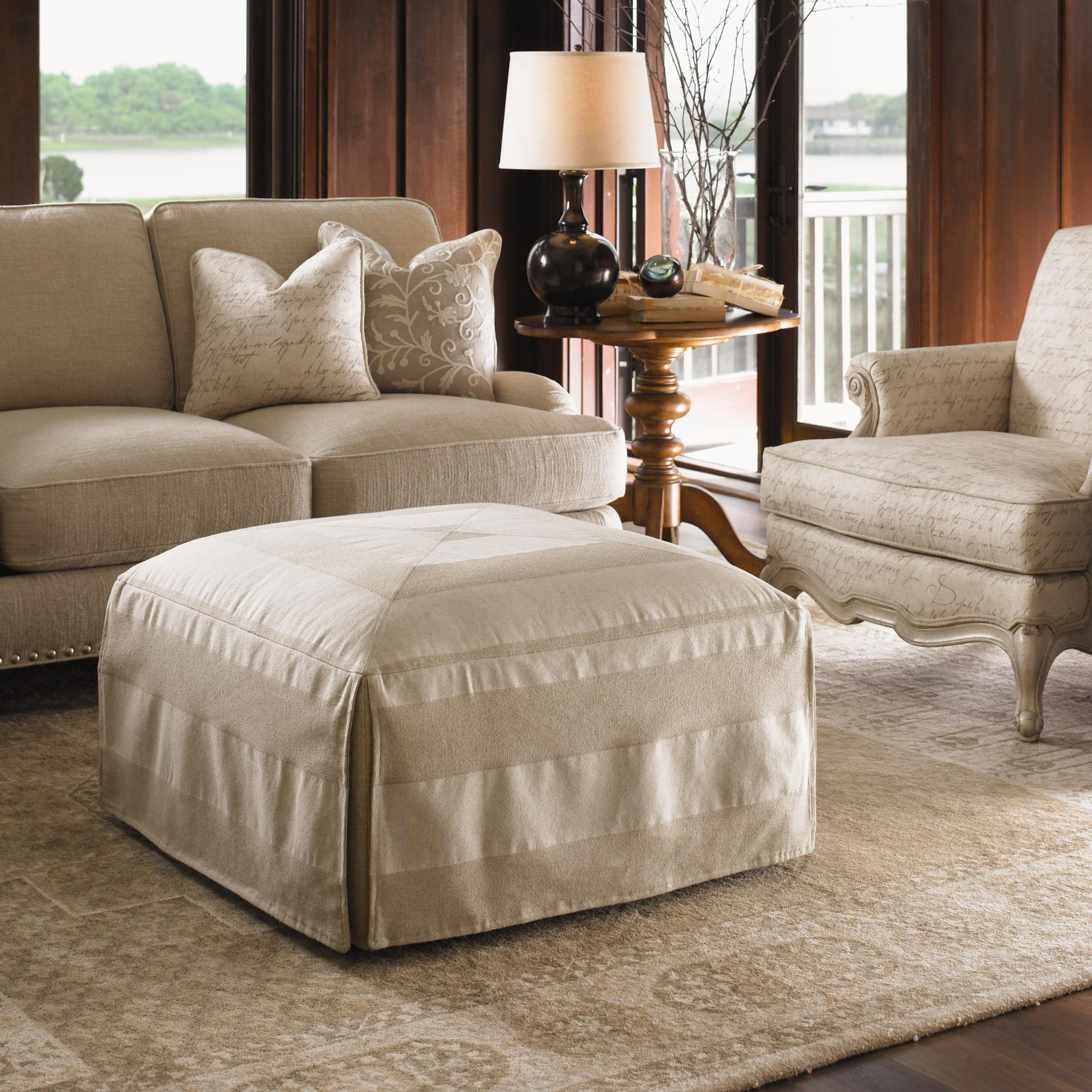 Lexington Twilight Bay Jasmine Ottoman Reeds Furniture Ottomans