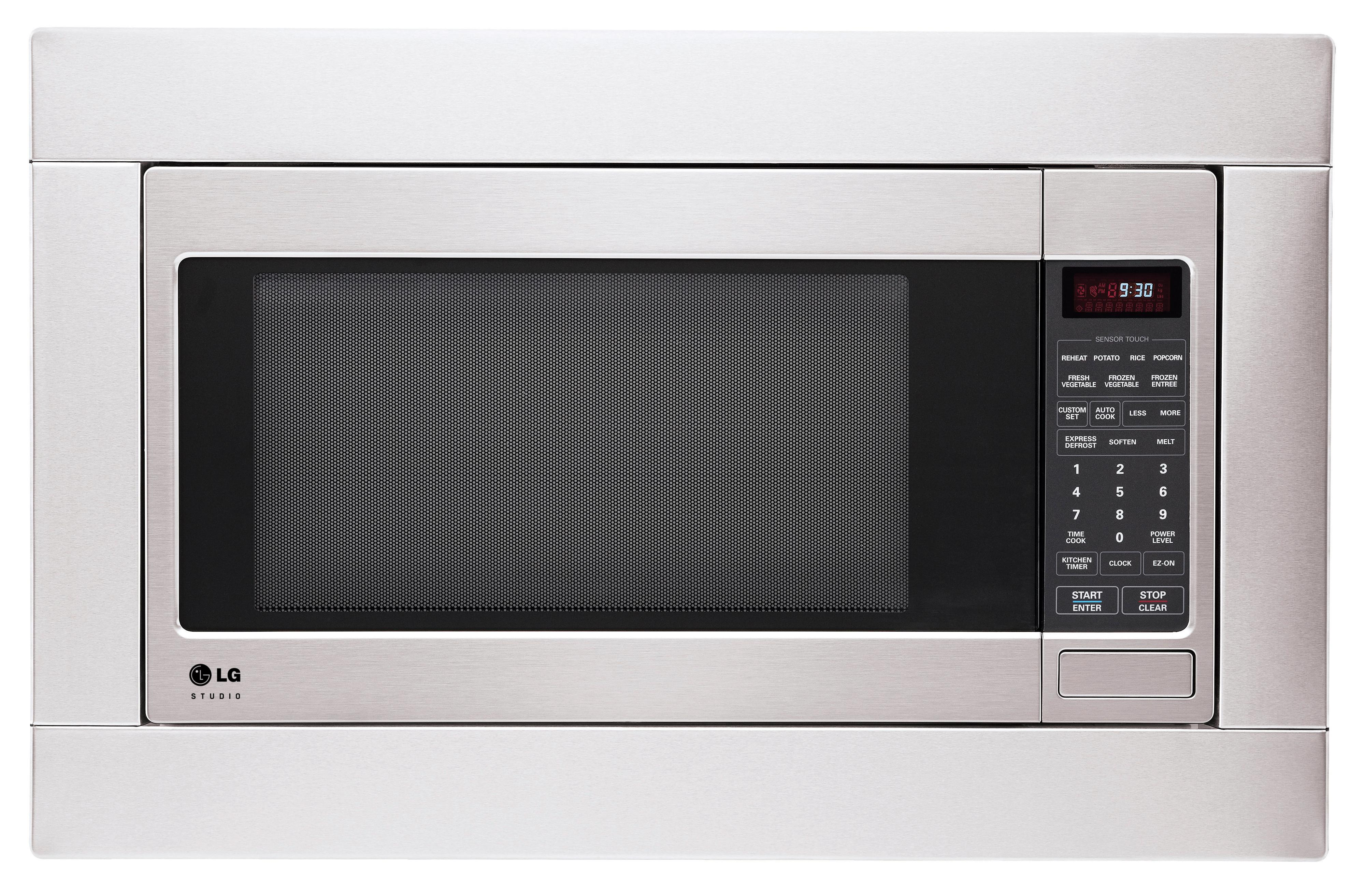Lg appliances trim kit for lcrt2010st and lg studio for Microwave ovens built in with trim kit