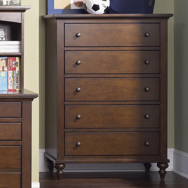 Liberty Furniture Abbott Ridge Youth Bedroom 277 Br40 5 Drawer Chest Hudson 39 S Furniture