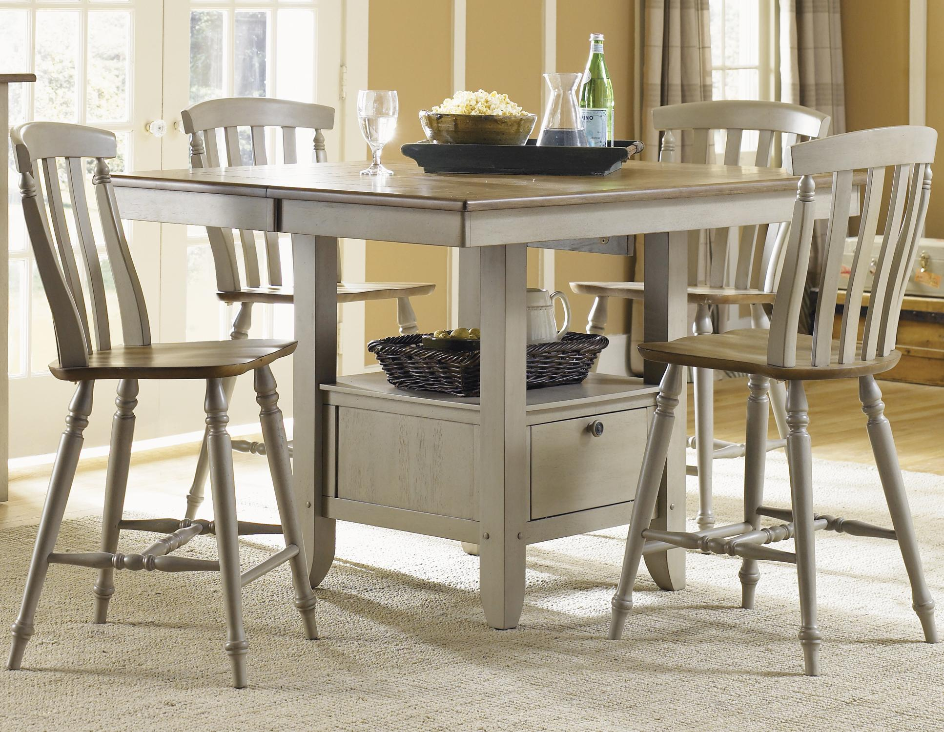 Liberty furniture al fresco five piece gathering table for Furniture options