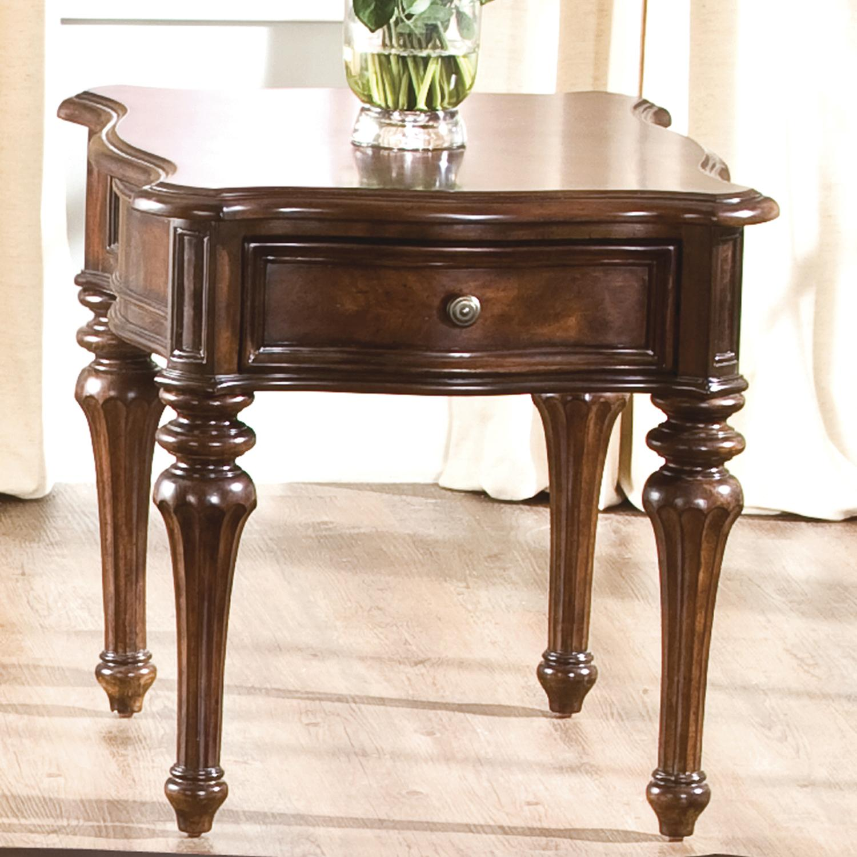 Traditional sofa tables art capri demilune sofa table for Traditional furnishings