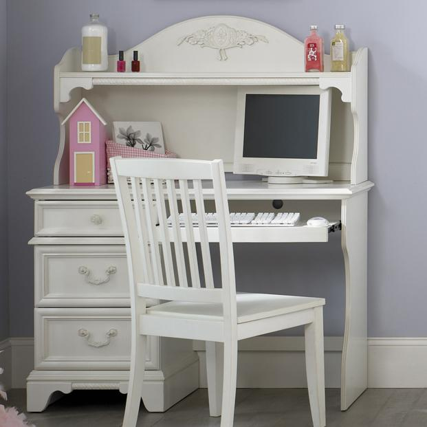 Rotmans Essentials 102 Arielle Youth Bedroom Traditional Single Pedestal Student Desk Arched