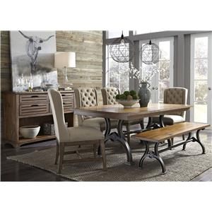 table with metal base pilgrim furniture city dining room table