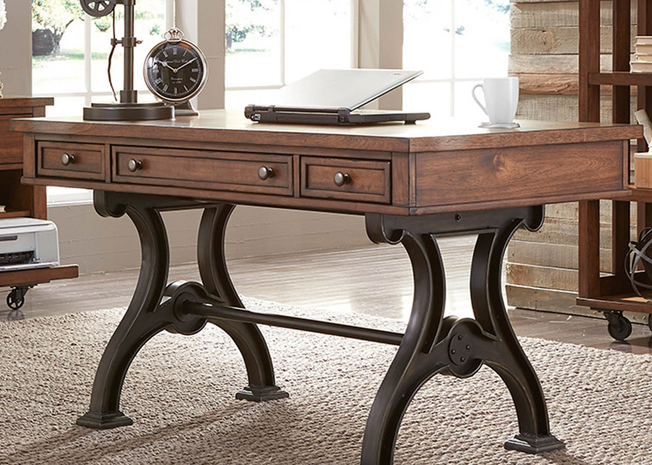 Liberty Furniture Arlington 411 Ho107 Writing Desk With 3 Dovetail Drawers Great American Home
