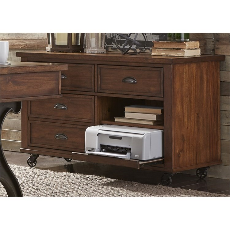 Liberty Furniture Arlington 411 Ho121 Credenza With Pull Out Printer Shelf Great American Home