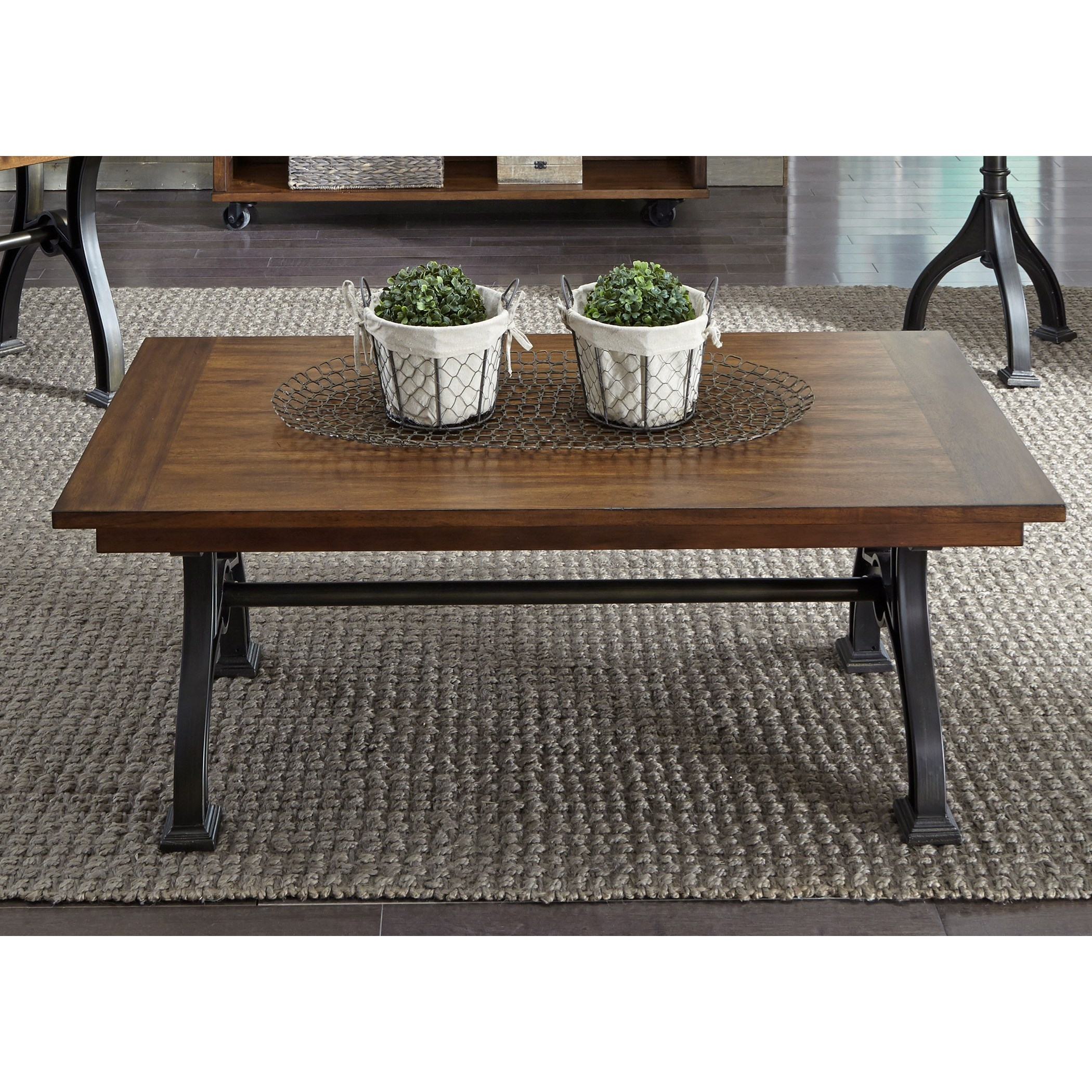 Liberty furniture arlington industrial rectangular for Dining room tables jacksonville nc